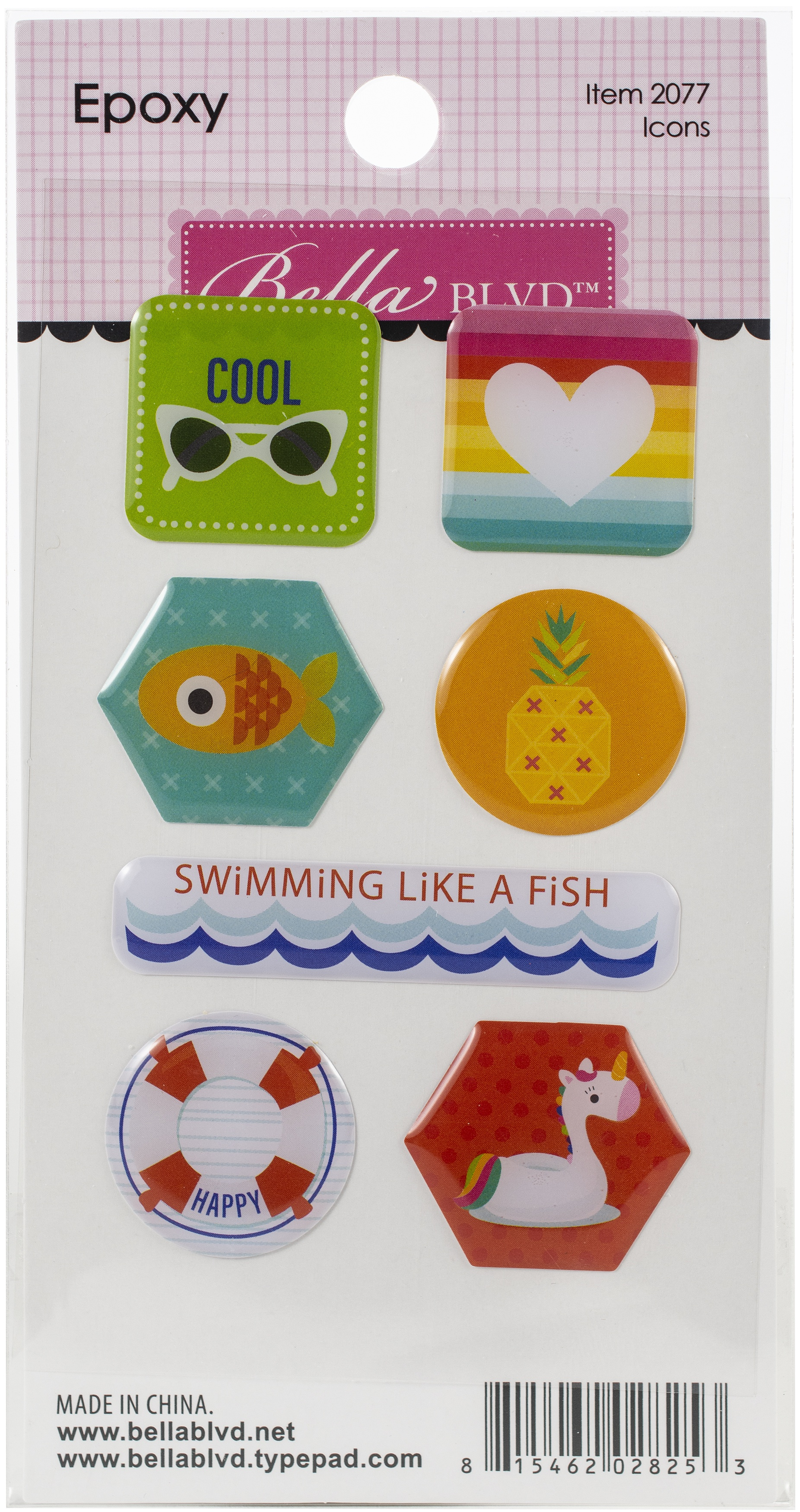 ^Bella Blvd - Splash Zone Epoxy Stickers