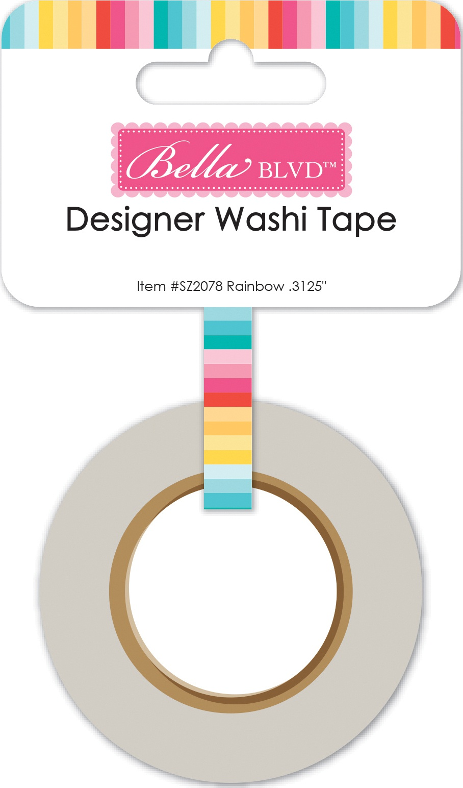 Bella Blvd - Splash Zone Designer Washi Tape - Rainbow