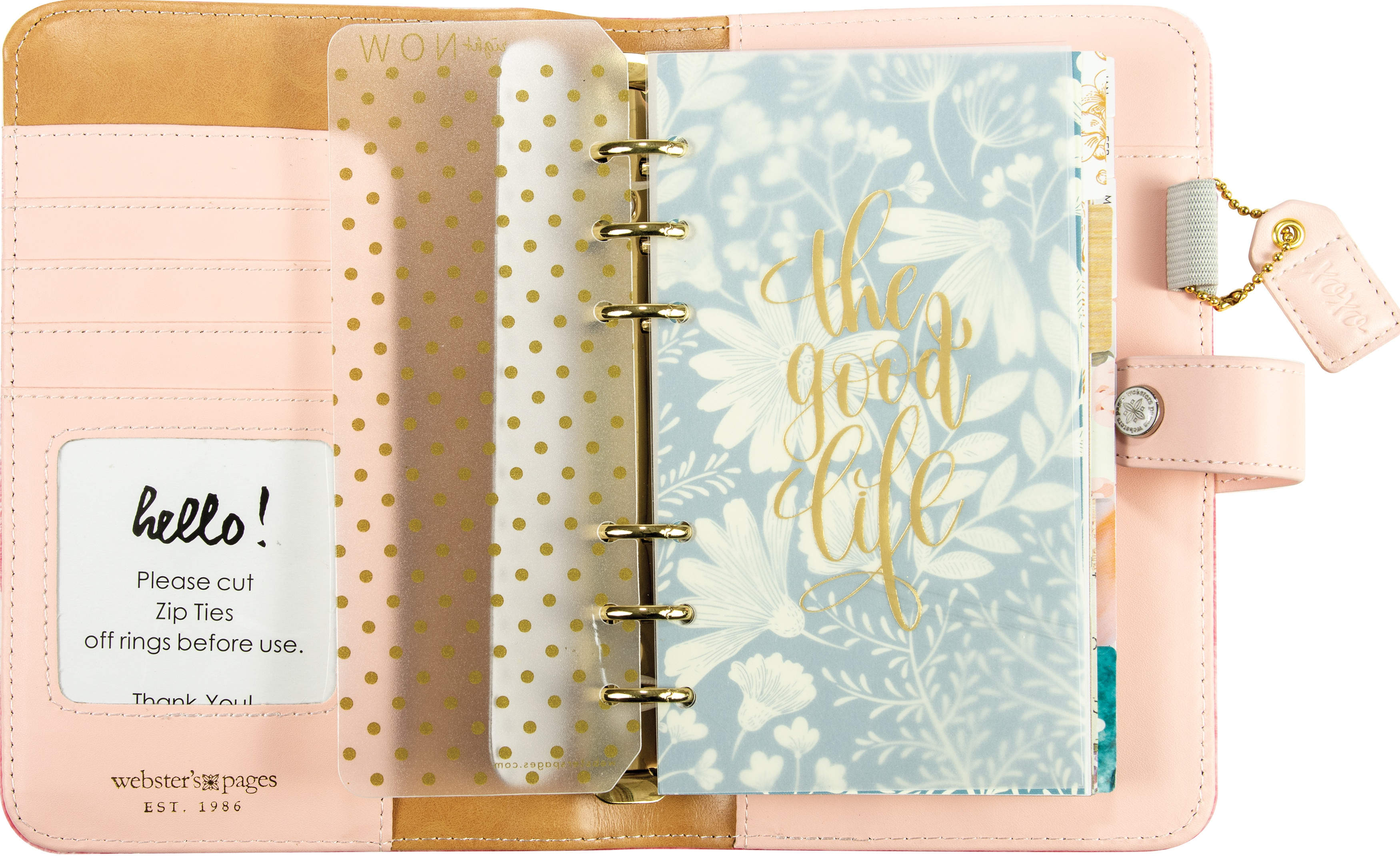 Color Crush Faux Leather Personal Planner Kit 5.25X8-The Little Things
