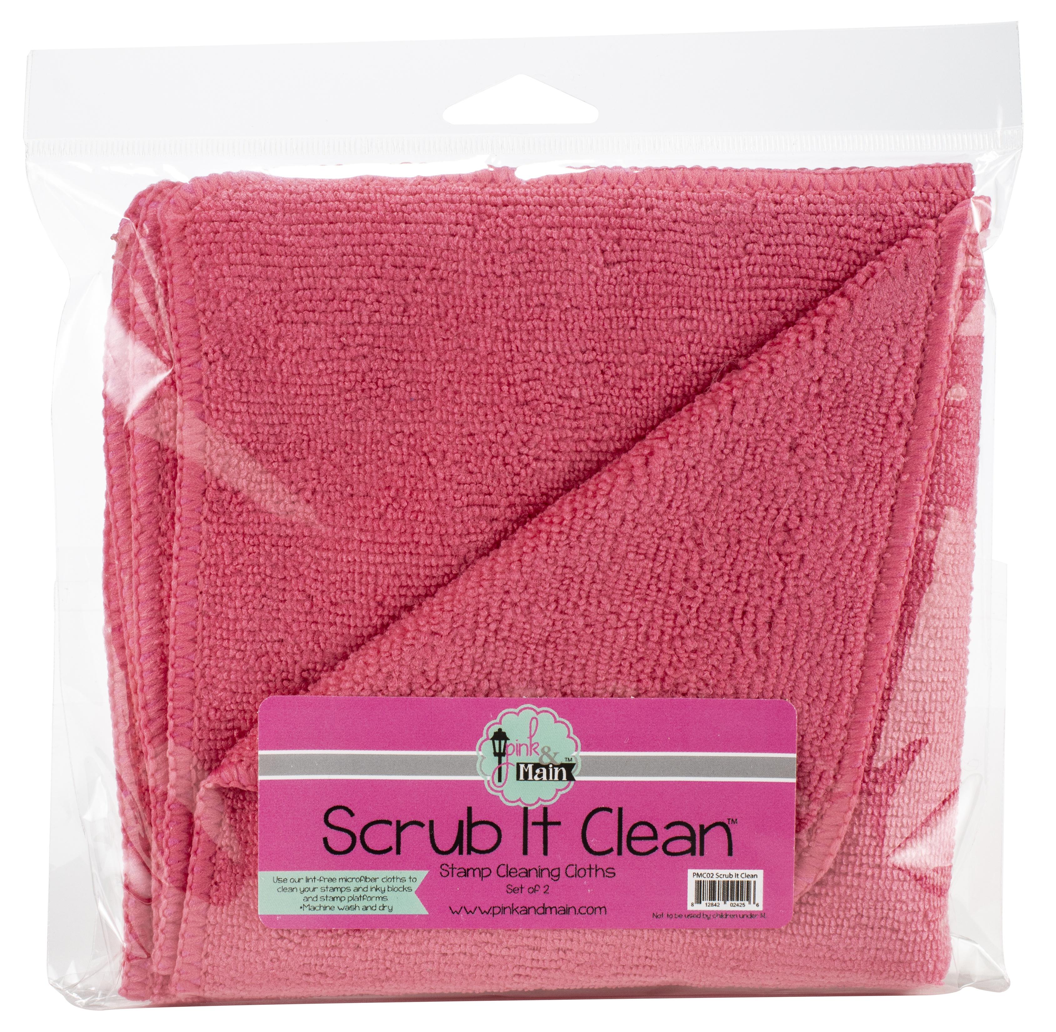 Pink & Main Scrub It Clean Microfiber Cloths 2/Pkg-