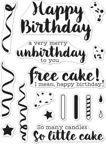 Hero Arts Greetings Clear Stamps 3X4-Cheeky Birthday