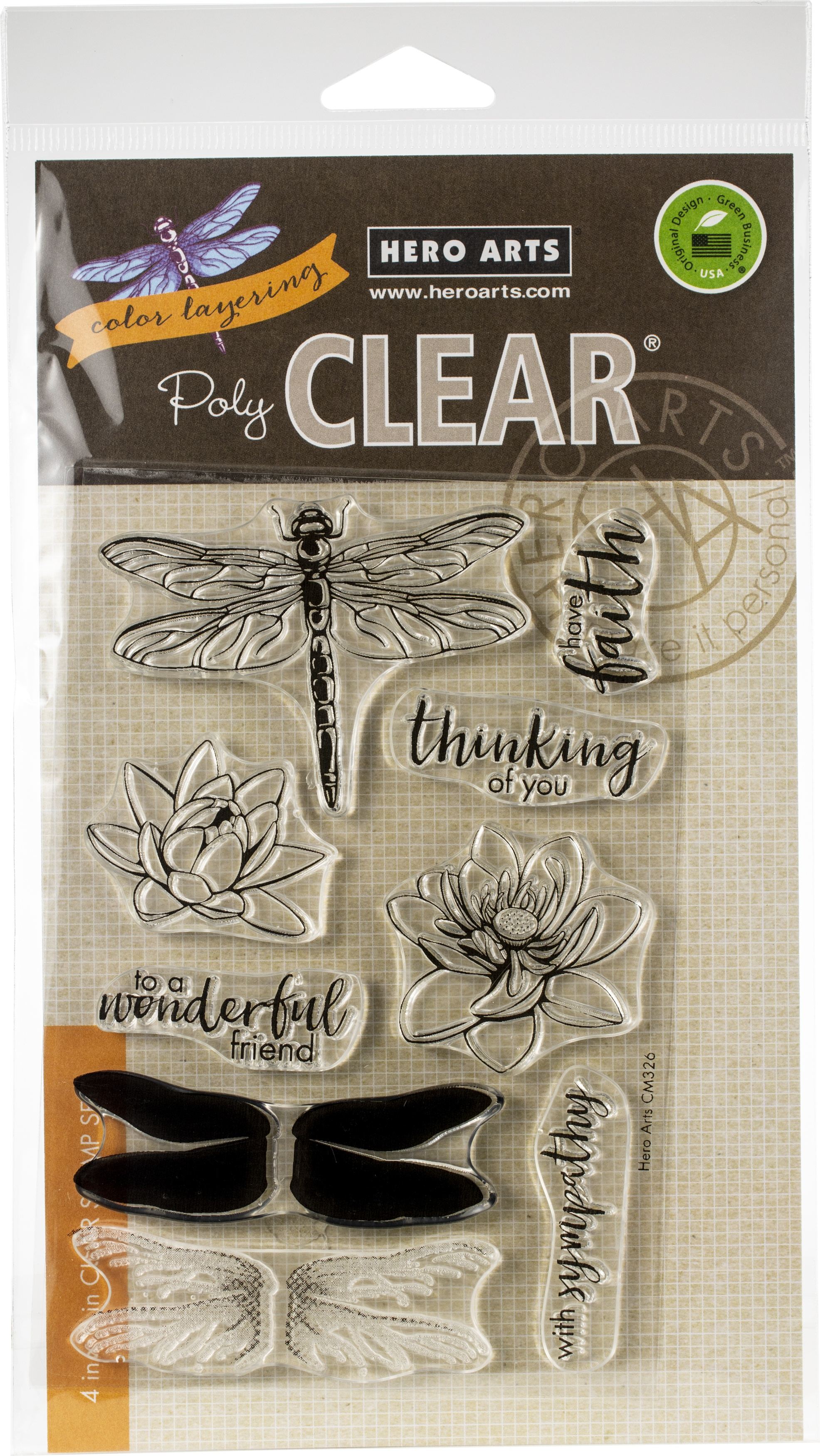 Hero Arts Color Layering Clear Stamps 4X6-Dragonfly