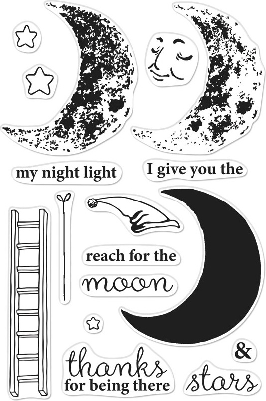 Hero Arts Color Layering Clear Stamps 4X6-Sleepy Moon