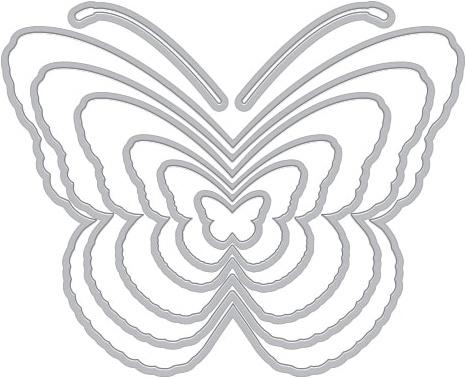 Hero Arts Infinity Dies-Nesting Butterflies