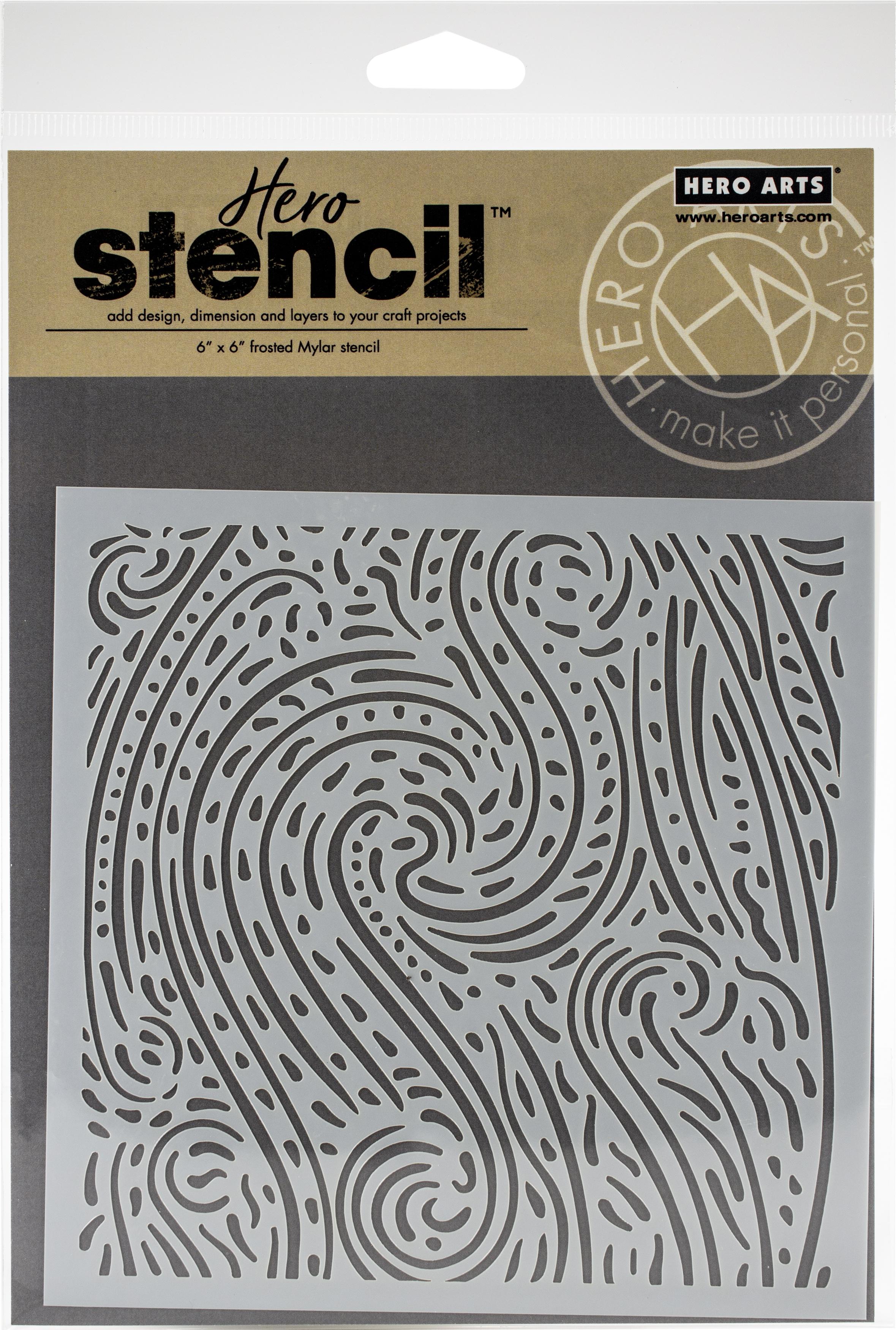 Hero Arts Stencil 6X6-Starry Night