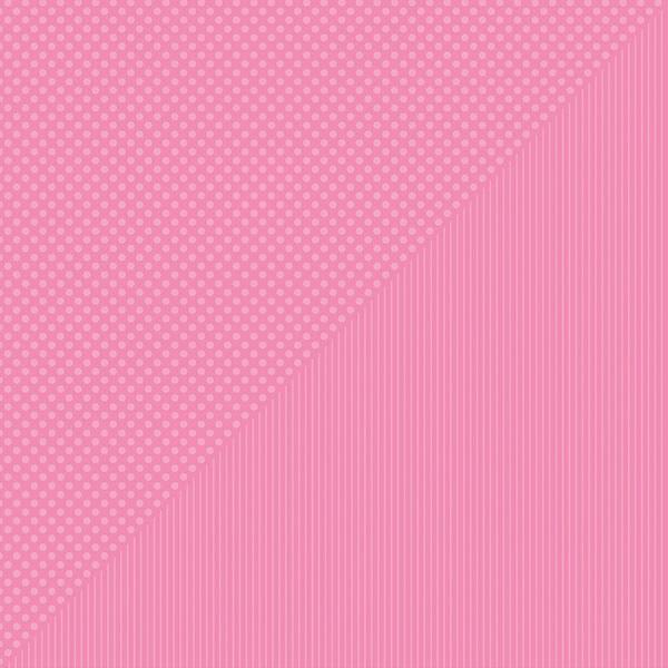 Spectrum Dots/Stripes Double-Sided Cardstock 12X12-Bubble Gum