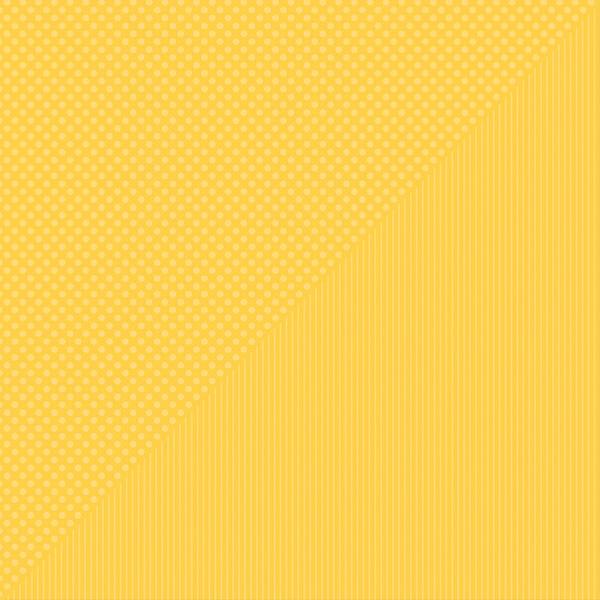 Spectrum Dots/Stripes Double-Sided Cardstock 12X12-Lemon Drop