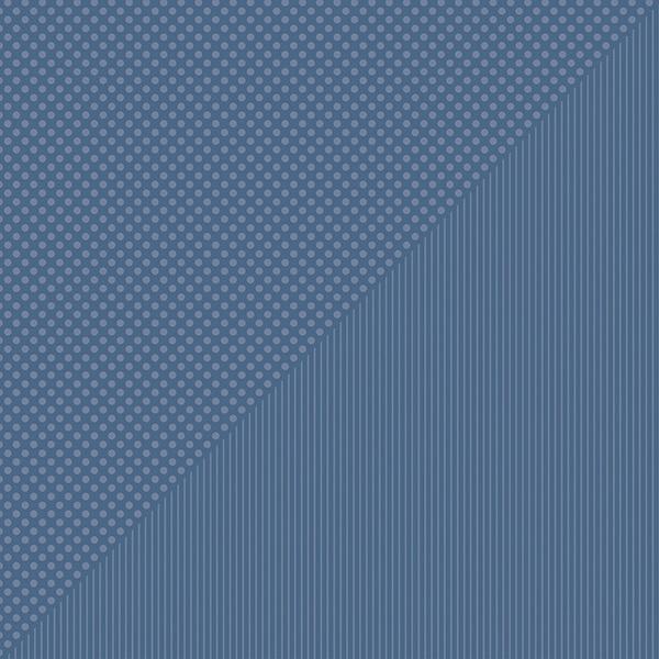 Spectrum Dots/Stripes Double-Sided Cardstock 12X12-Denim