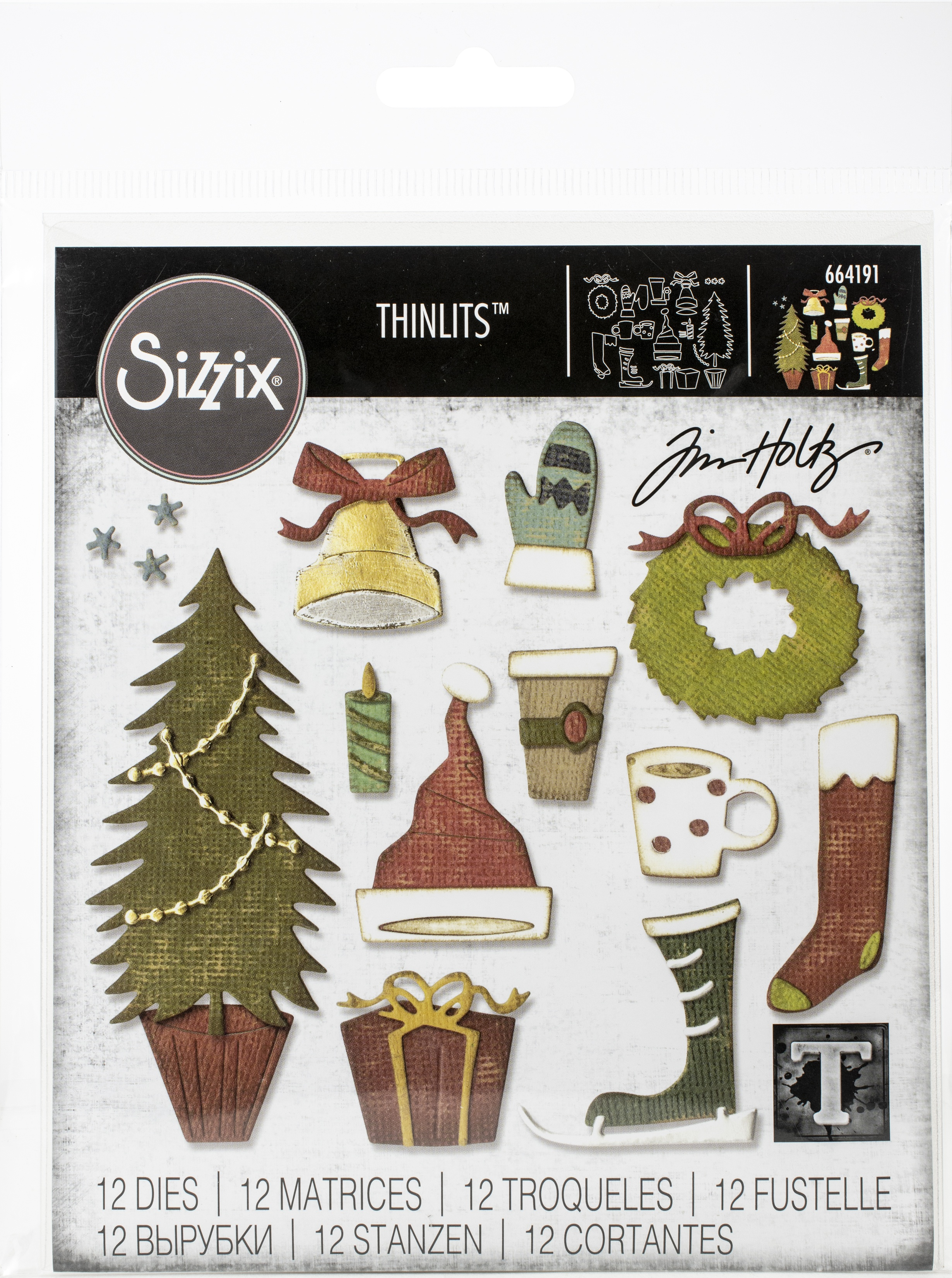 Sizzix Thinlits Dies By Tim Holtz-Festive Things
