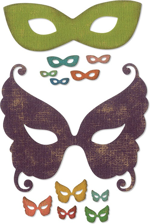 Sizzix Thinlits Dies By Tim Holtz-Masquerade