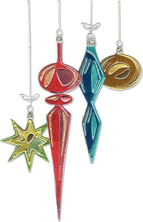 Sizzix Thinlits Dies By Tim Holtz-Hanging Ornaments