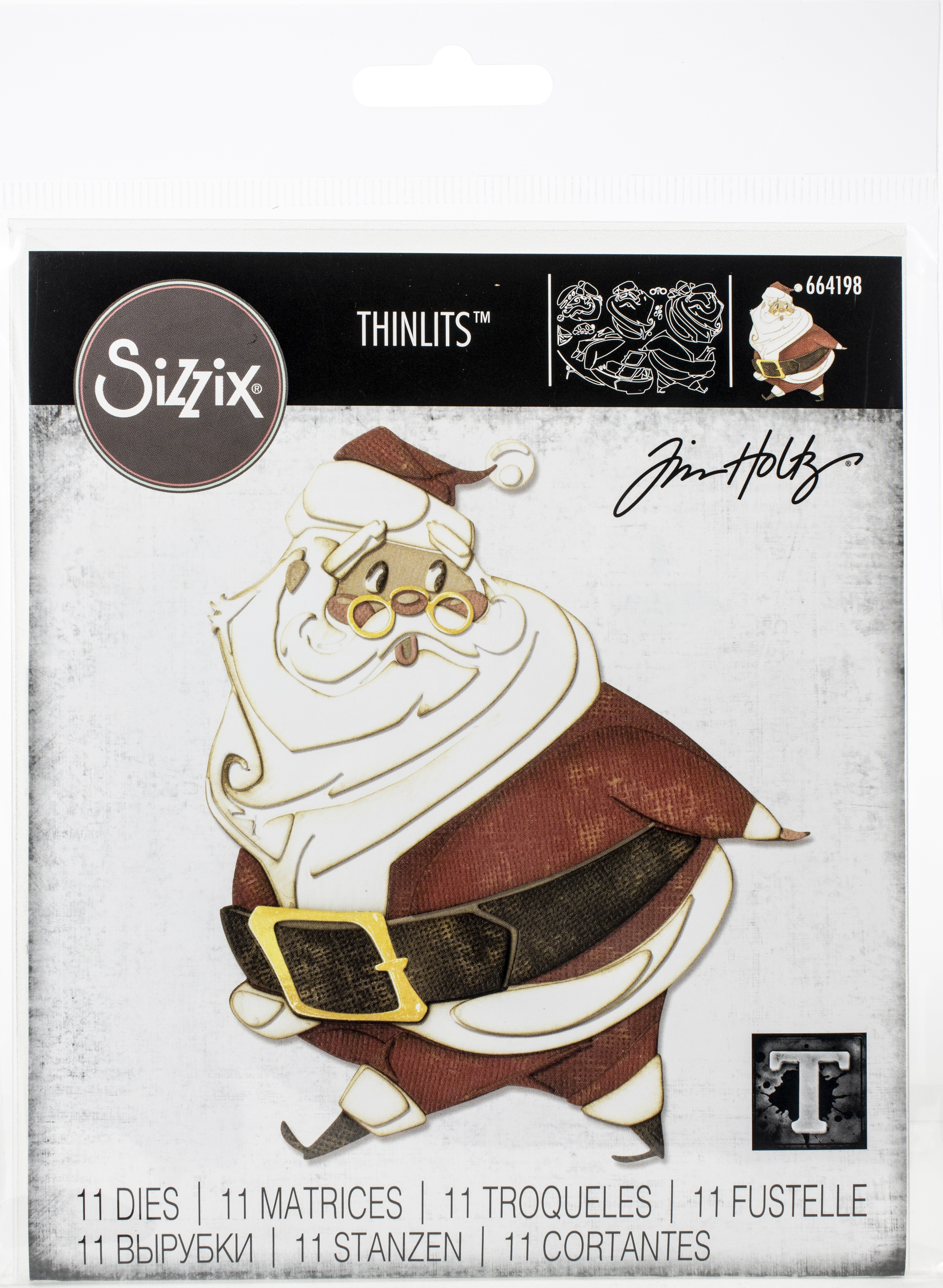 Sizzix Thinlits Dies By Tim Holtz-Jolly St