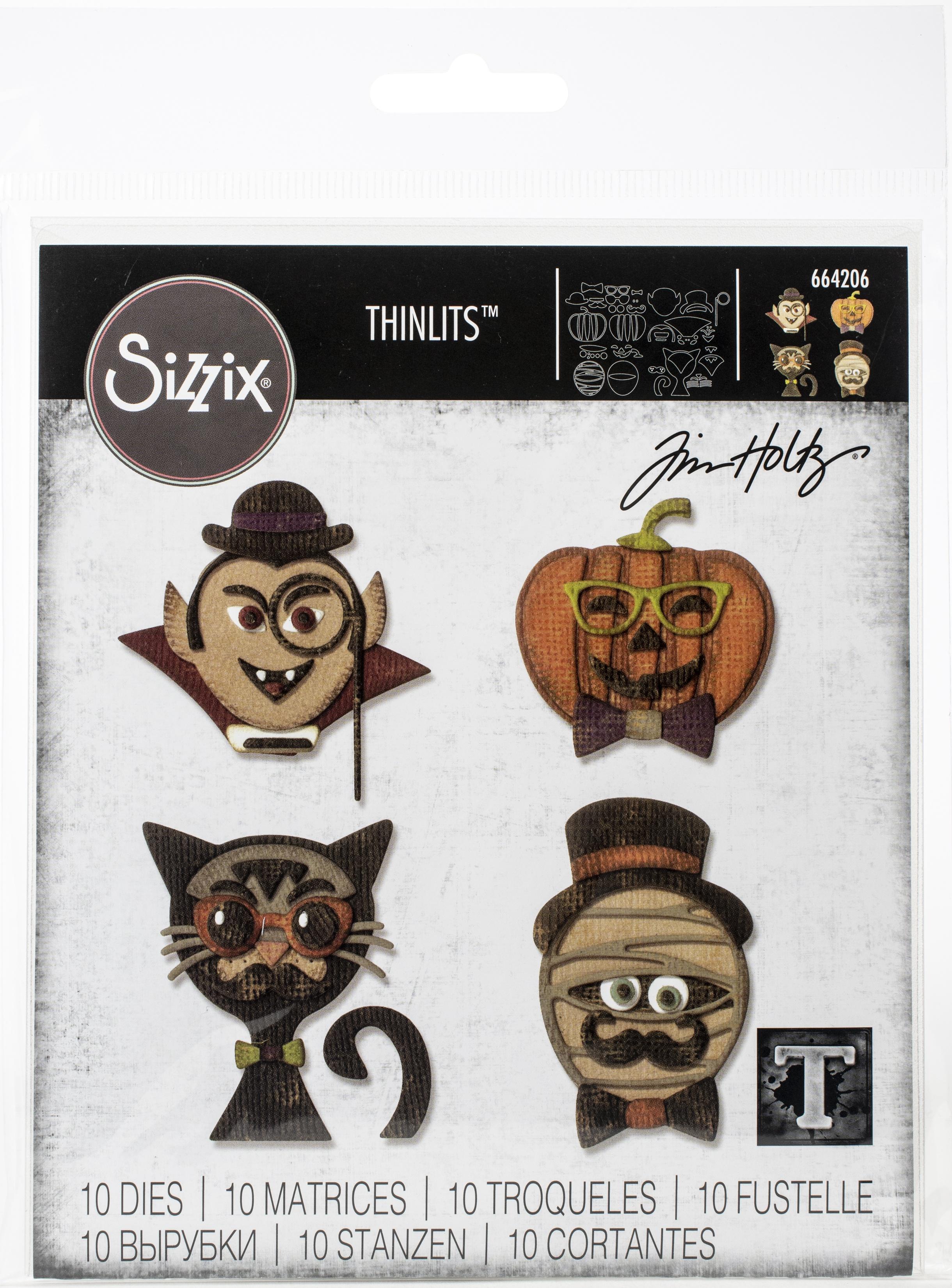Sizzix Thinlits Dies By Tim Holtz-Hip Haunts
