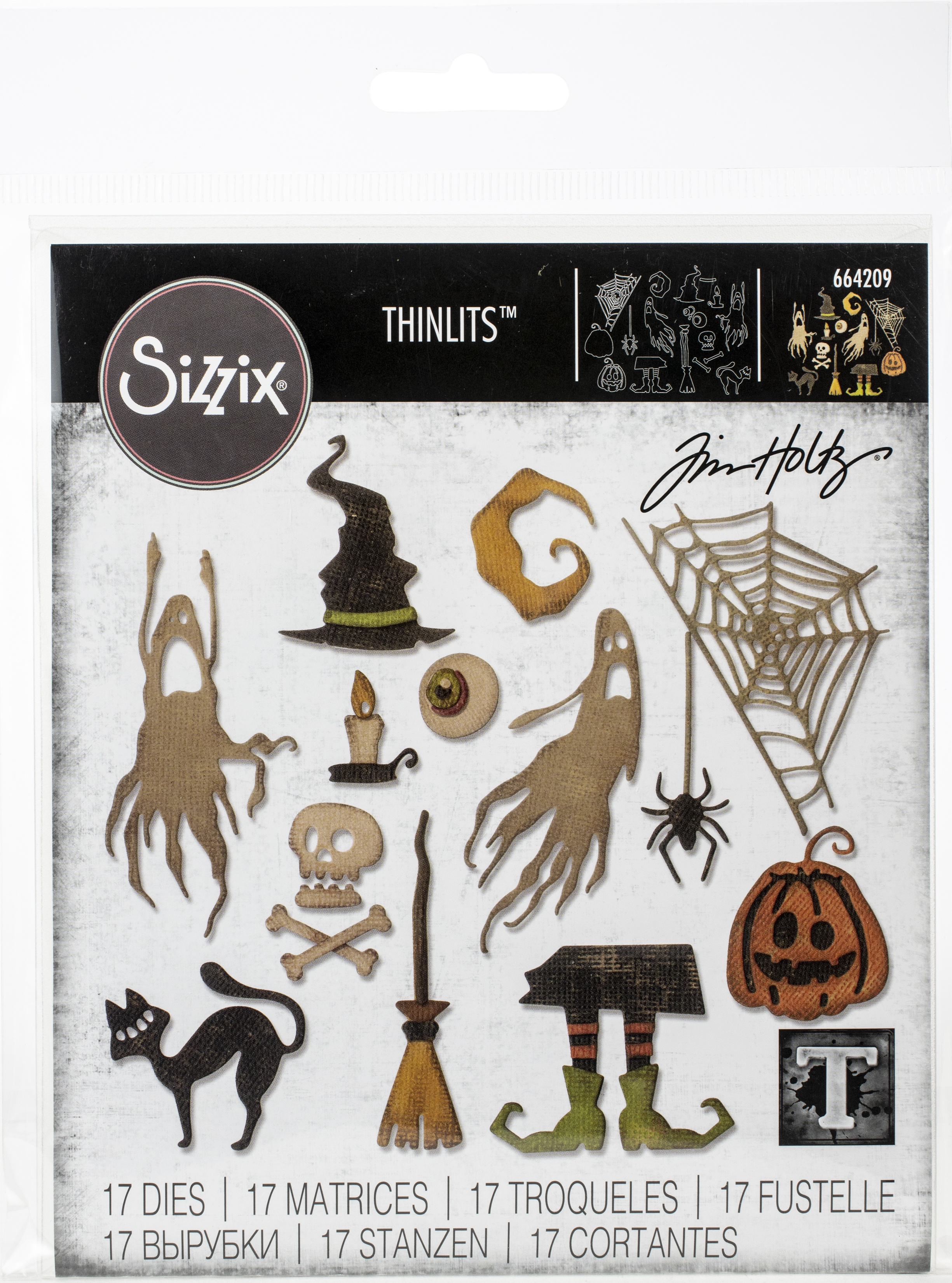 Sizzix Thinlits Dies By Tim Holtz-Frightful Things