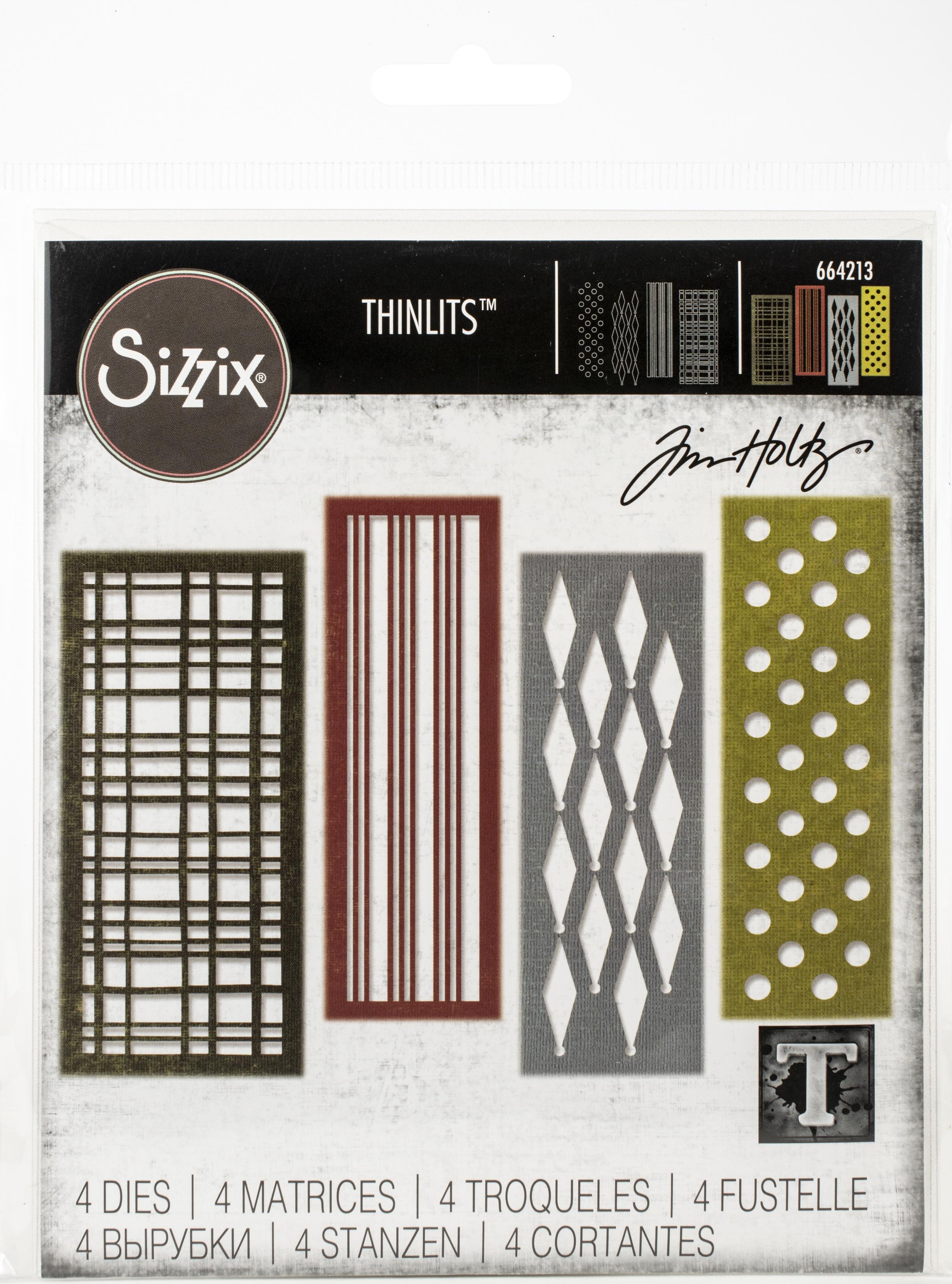 Sizzix Thinlits Dies By Tim Holtz-Festive Repeat
