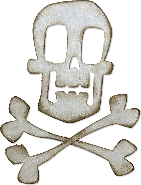 Sizzix Bigz Die By Tim Holtz-Skull & Crossbones