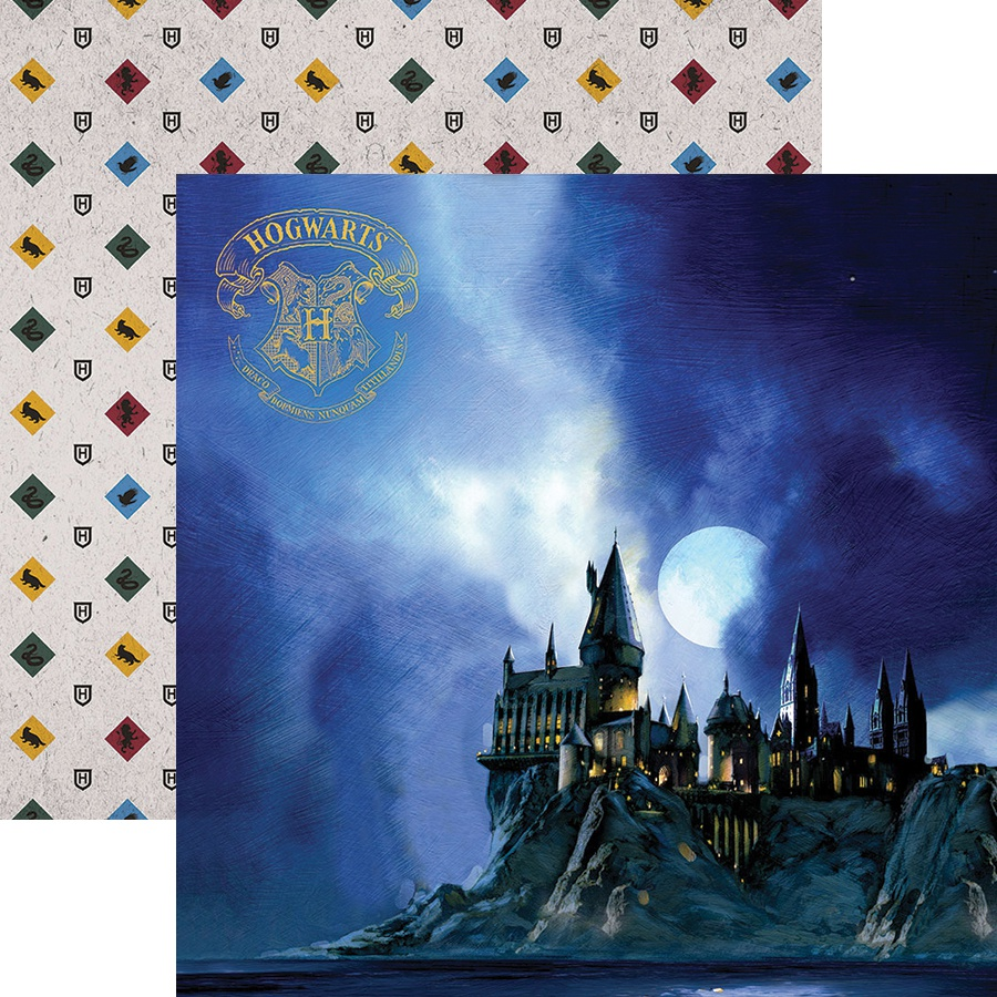 Paper House Harry Potter Double-Sided Paper 12x12 - Hogwarts At Night