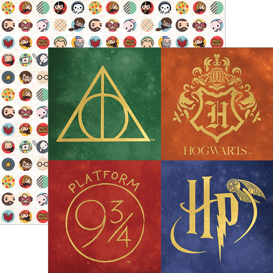 Paper House Harry Potter Double-Sided Paper 12x12 - Harry Potter Icons