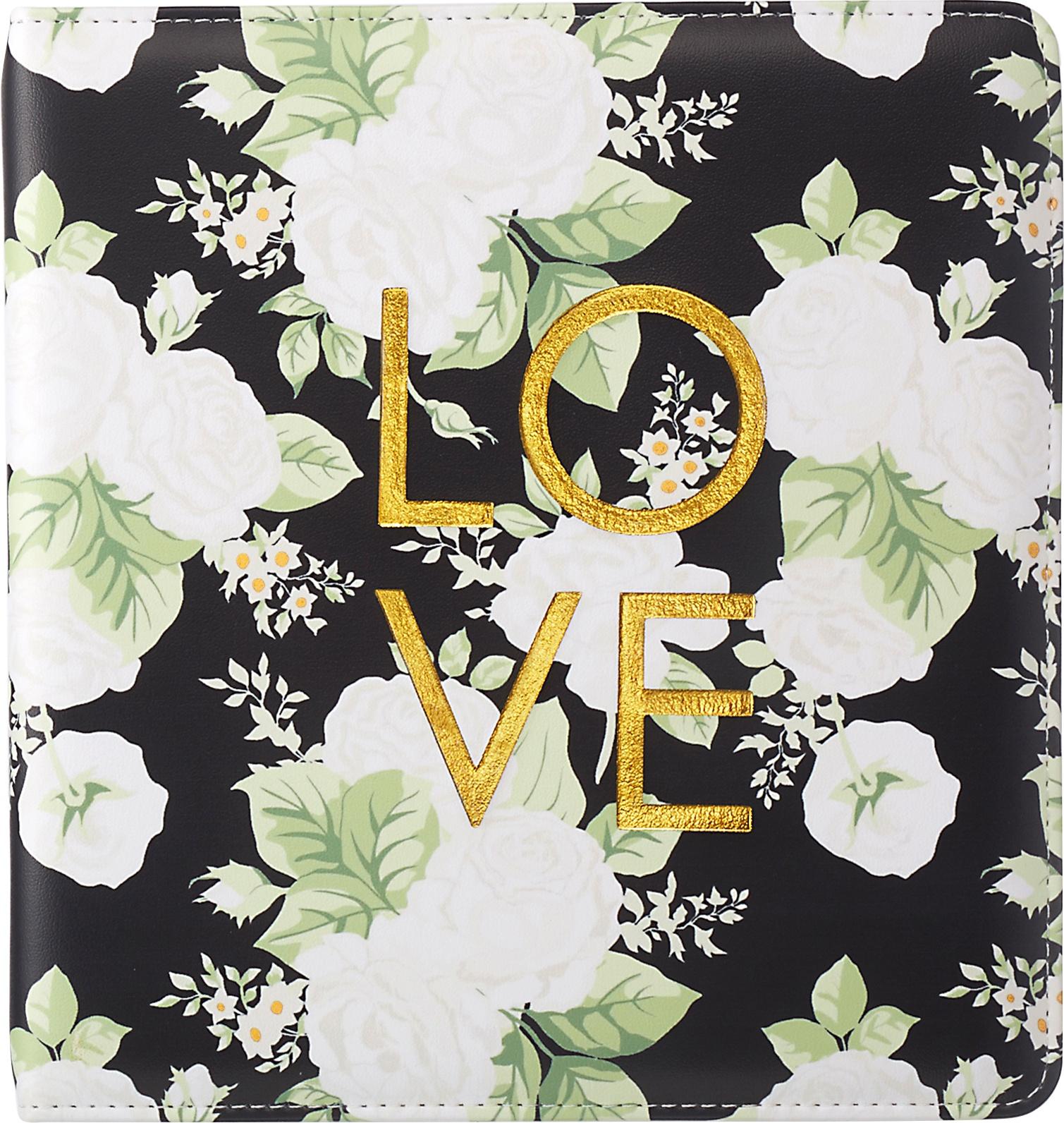 Color Crush Small Creative Photo Album 8.5X9X2-Black Floral