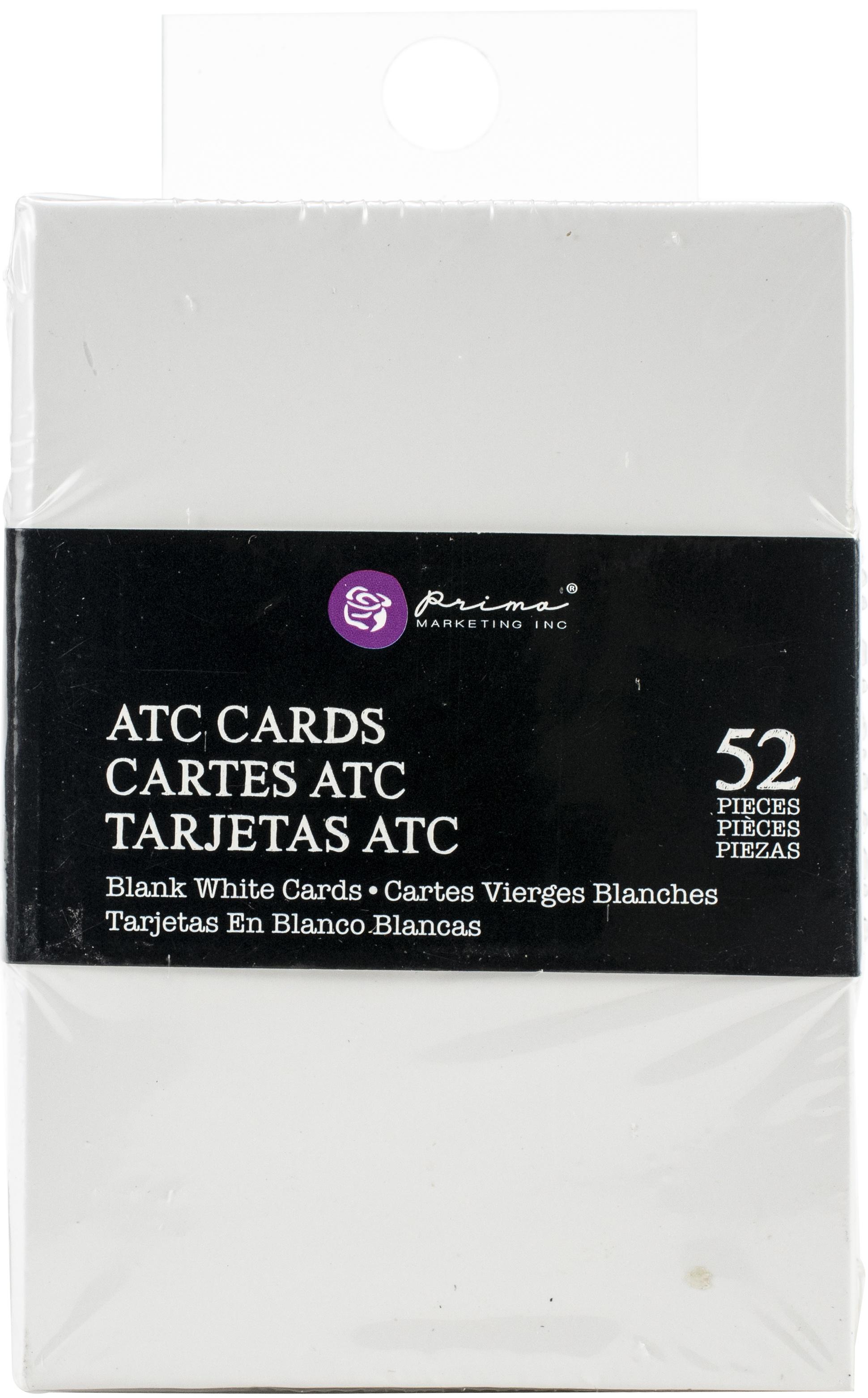 Prima Marketing Altered ATC Card Set 2.25X3.5-White