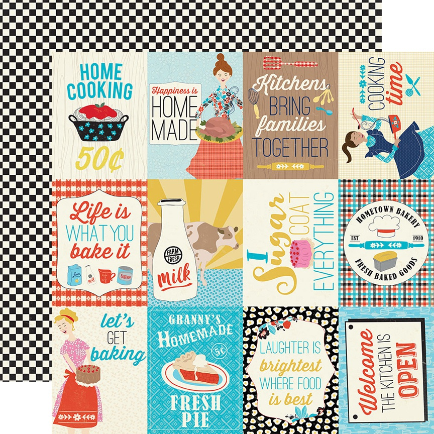 Ingredient Double-Sided Cardstock 12X12-#11 3X4 Cut-Apart Images & Sentiment...