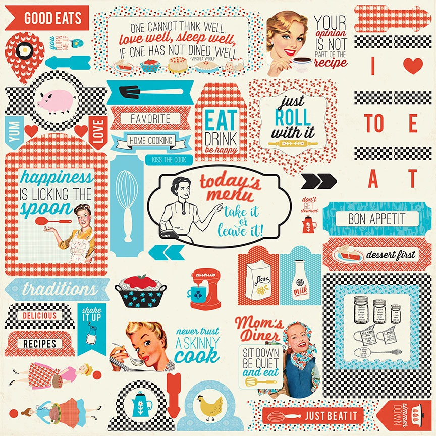 Ingredient Cardstock Stickers 12X12-Details