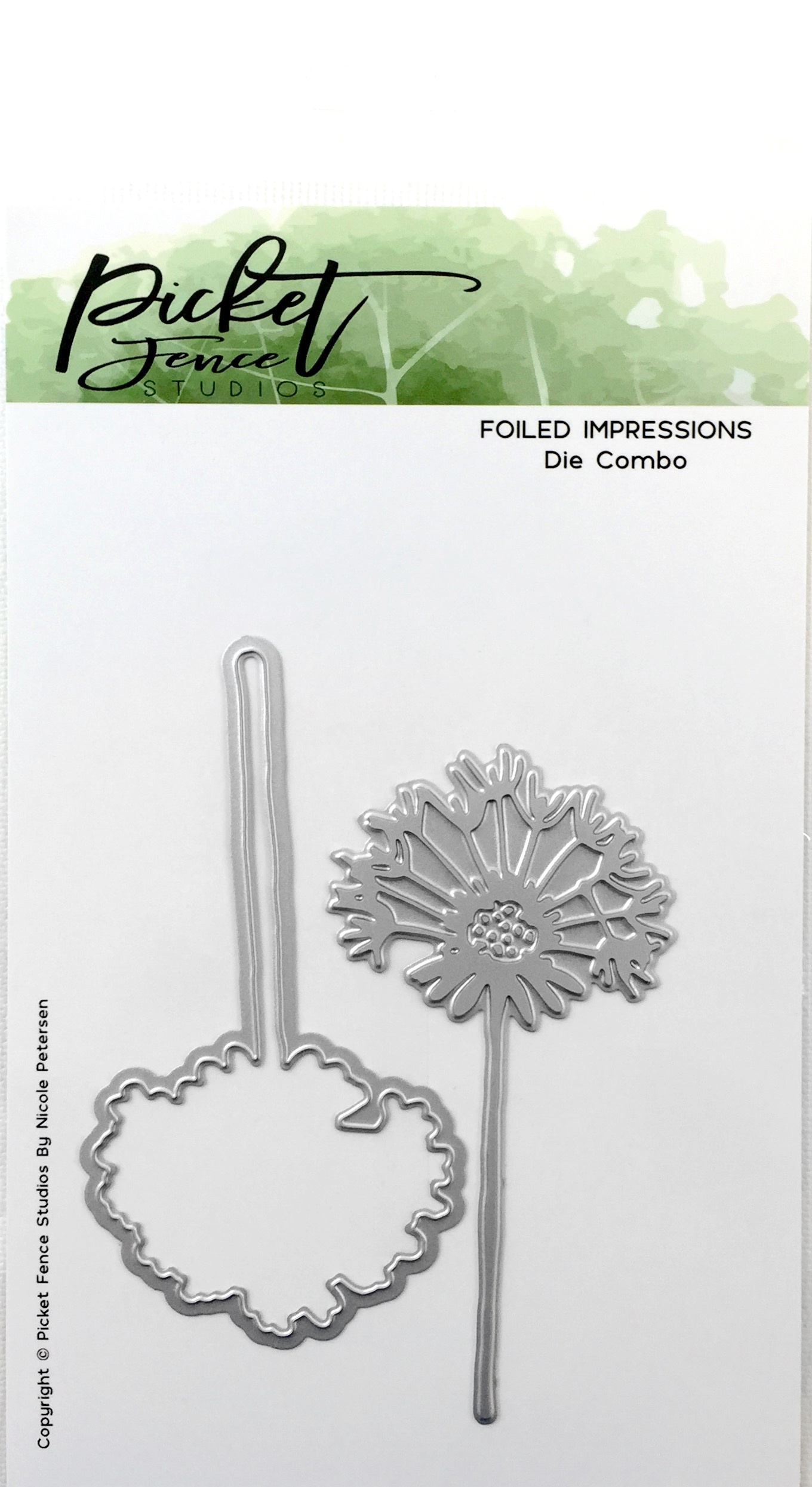 Picket Fence Studios Foiled Impression Die-Dandelion