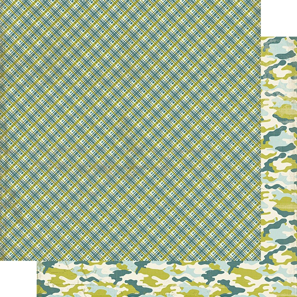 Youngster Double-Sided Cardstock 12X12-#1 Madras Plaid