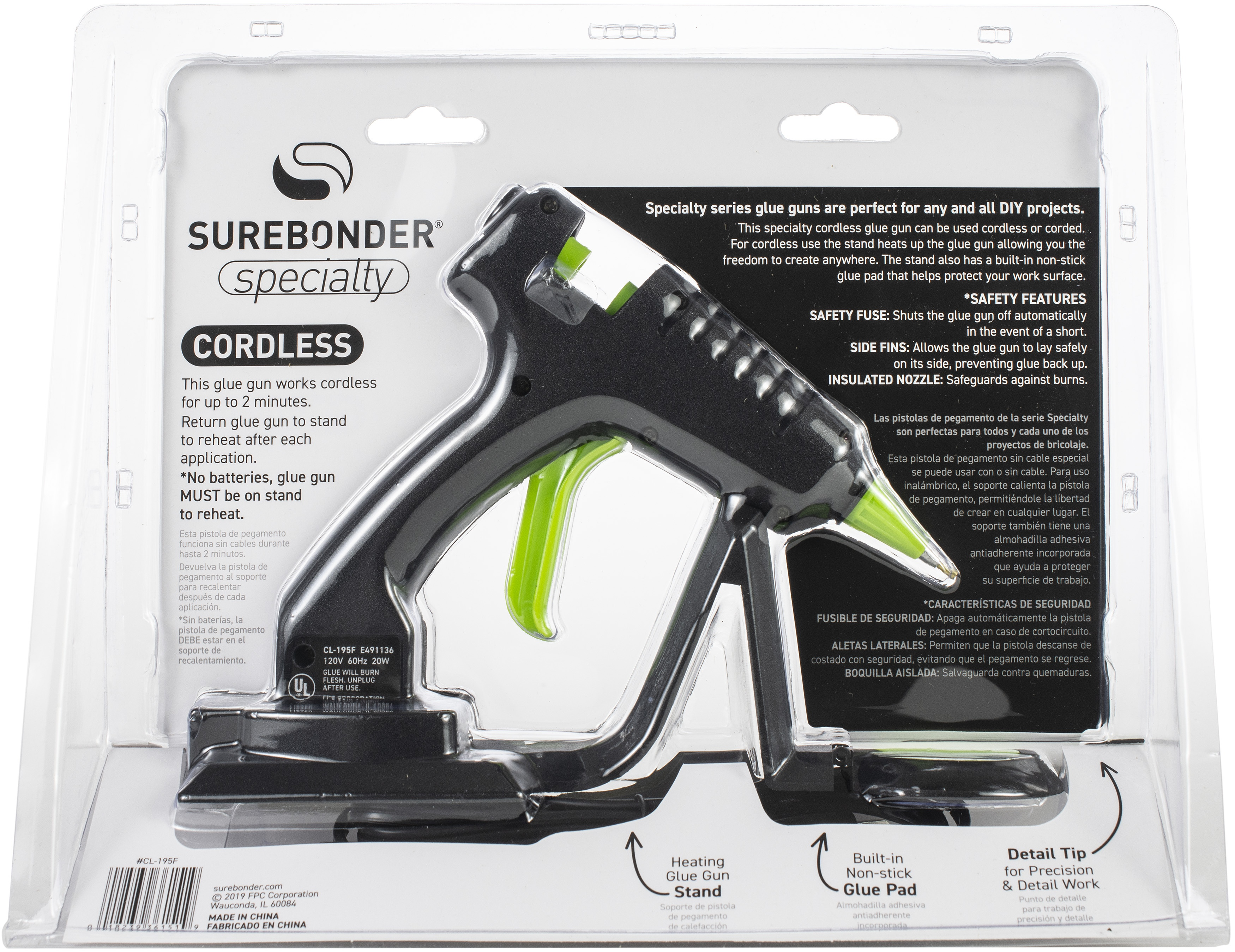 Cordless Mini 20 Watt Detail Glue Gun-