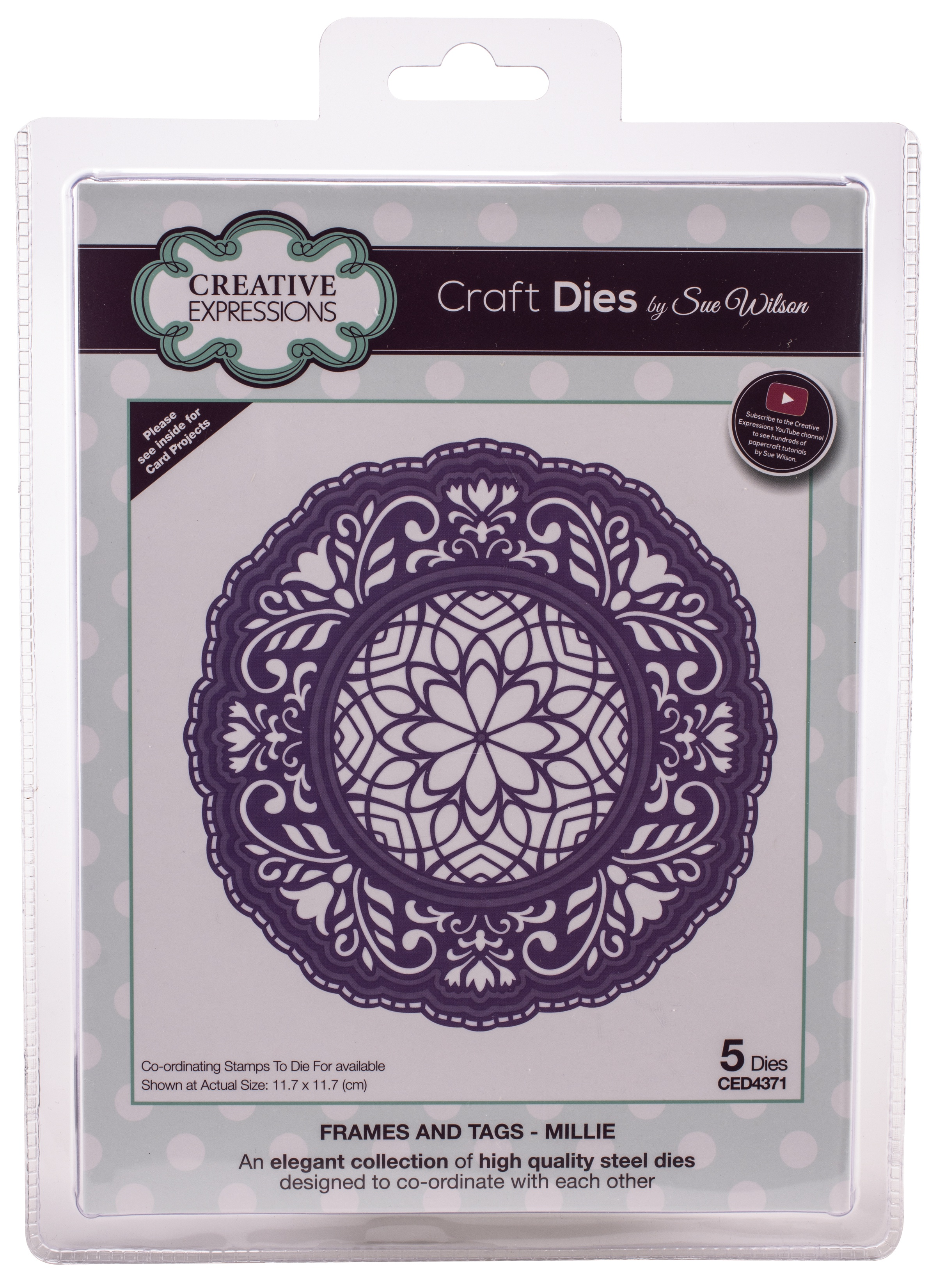 Creative Expressions Craft Dies By Sue Wilson-Frames & Tags-Millie