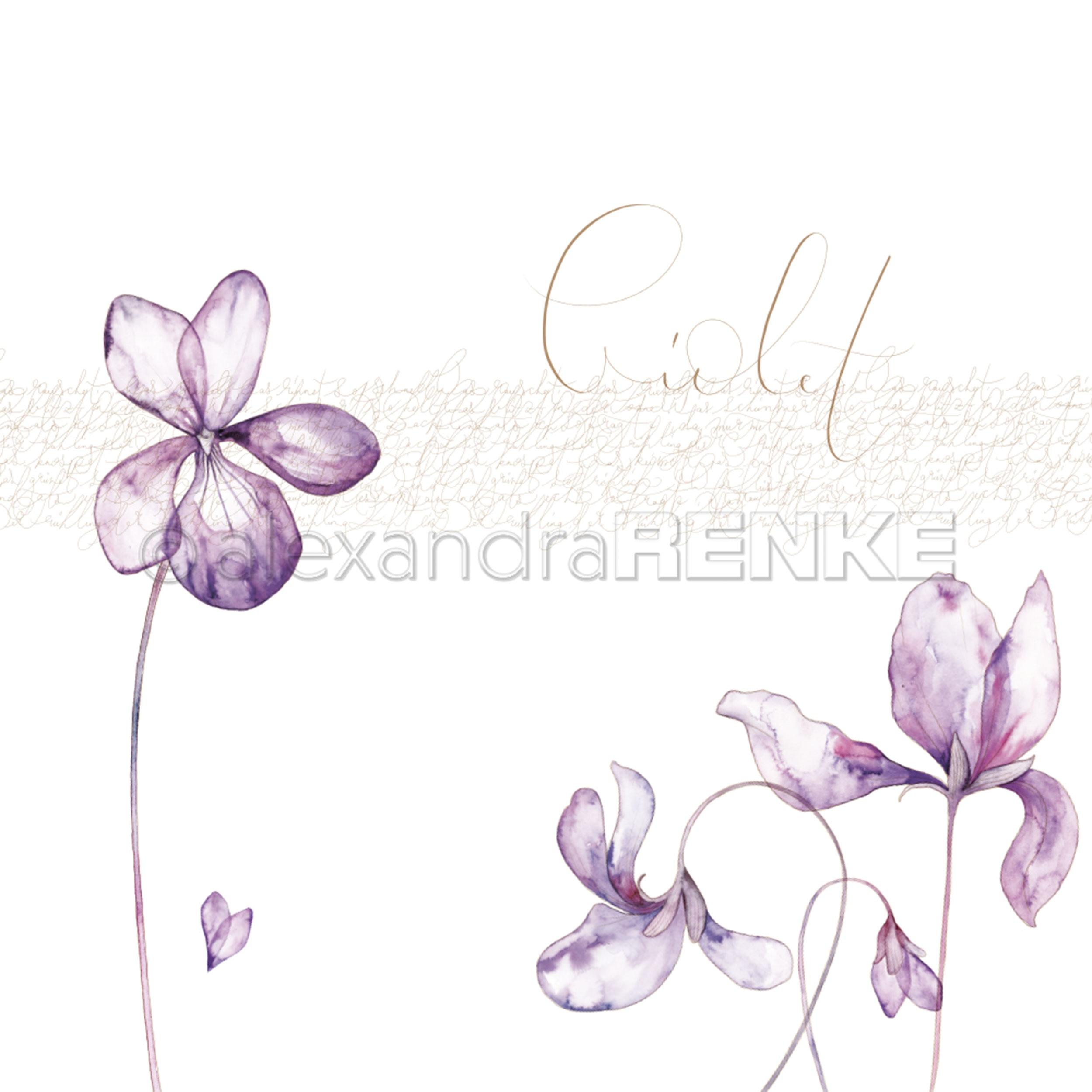 Alexandra Renke Spring Design Paper 12X12-Violet