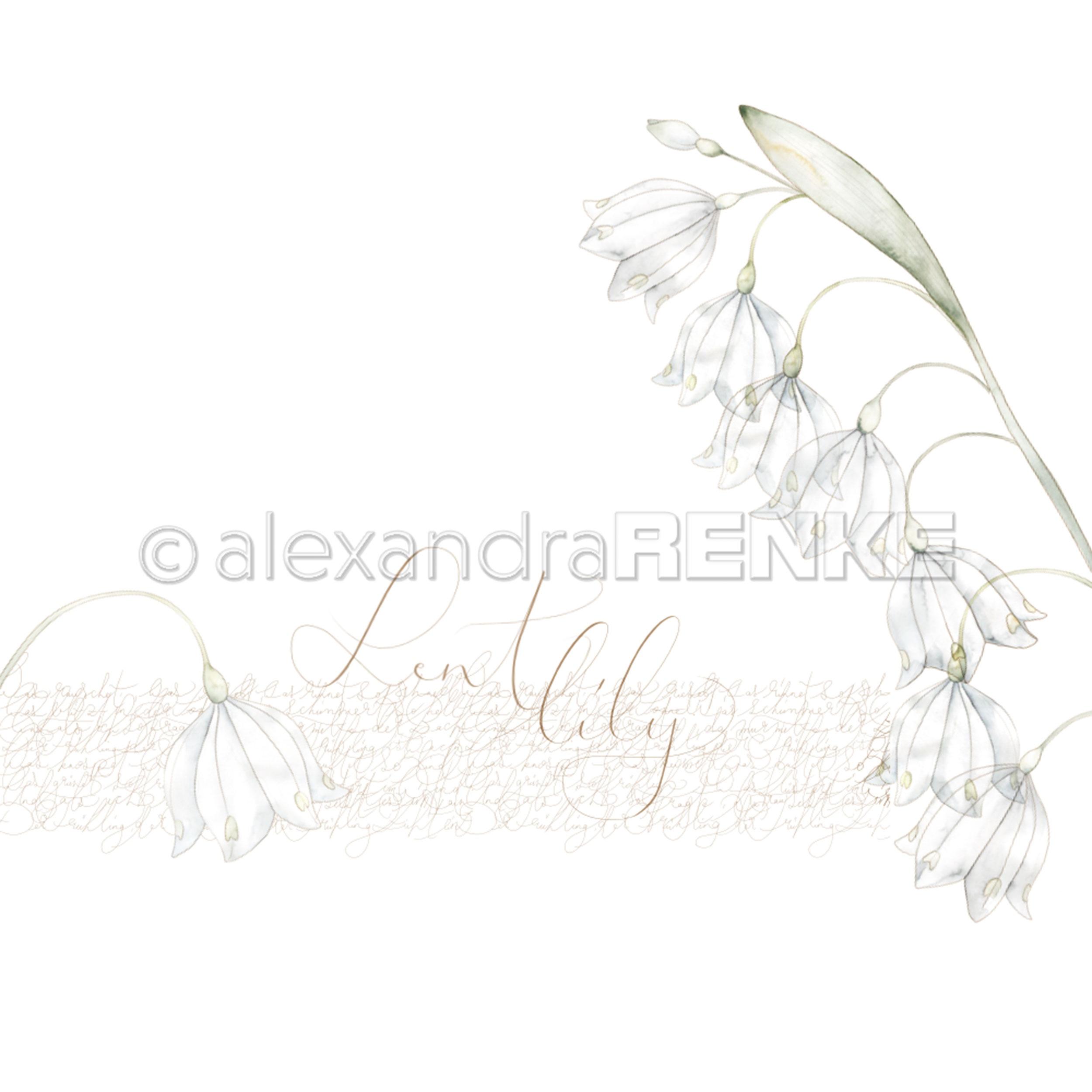 Alexandra Renke Spring Design Paper 12X12-Lent Lily
