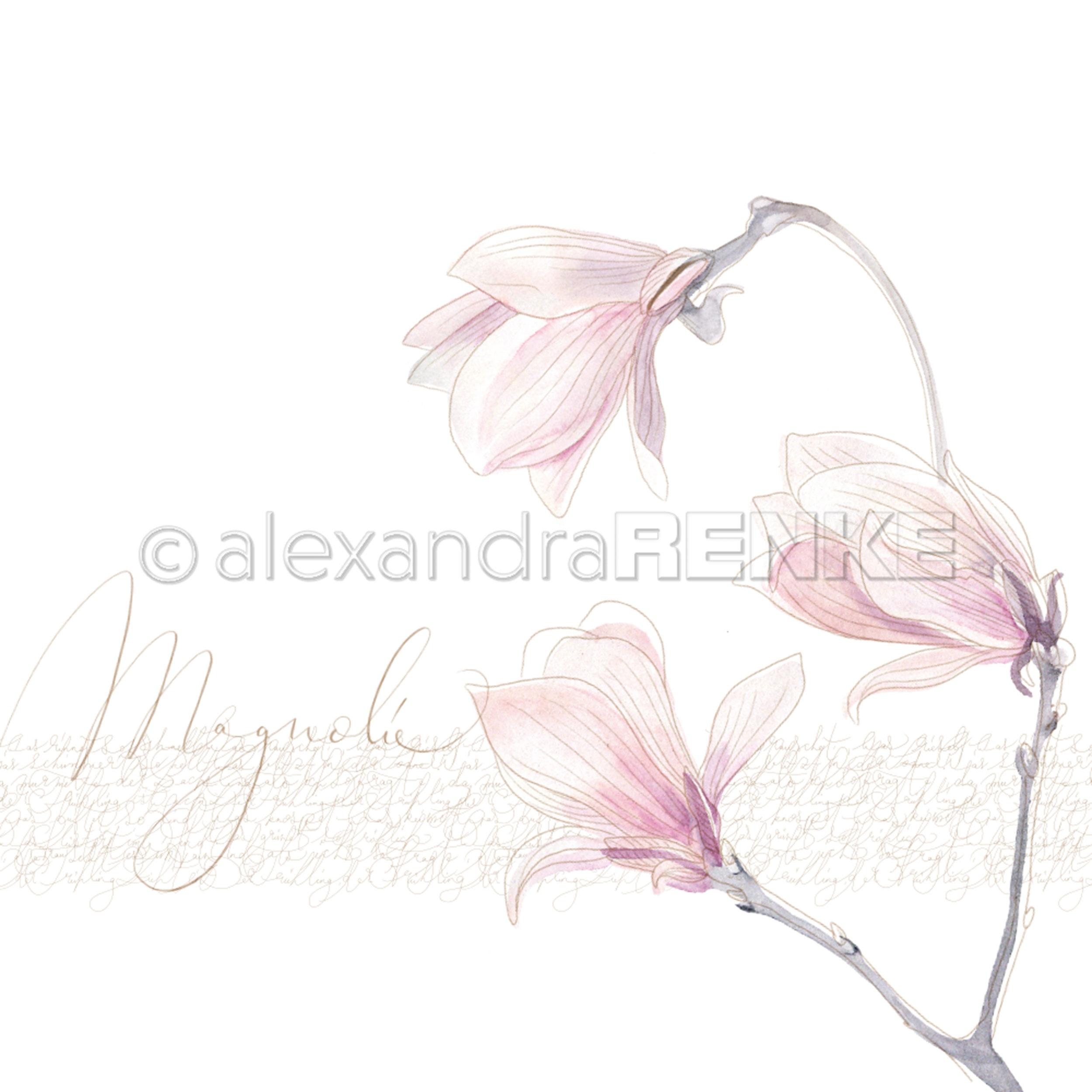 Alexandra Renke Spring Design Paper 12X12-Large Magnolia