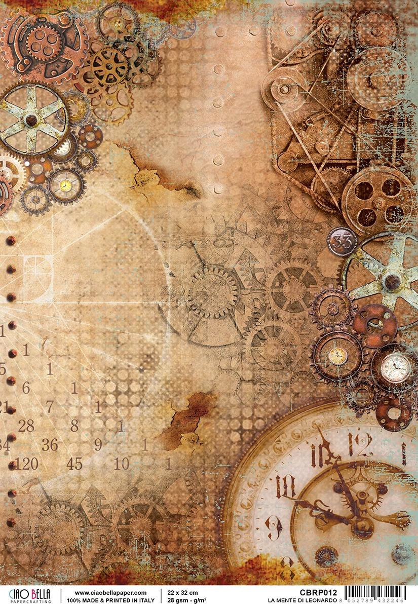 Ciao Bella Rice Paper Sheet A4 La Mente Di Leonardo, Codex Leonardo
