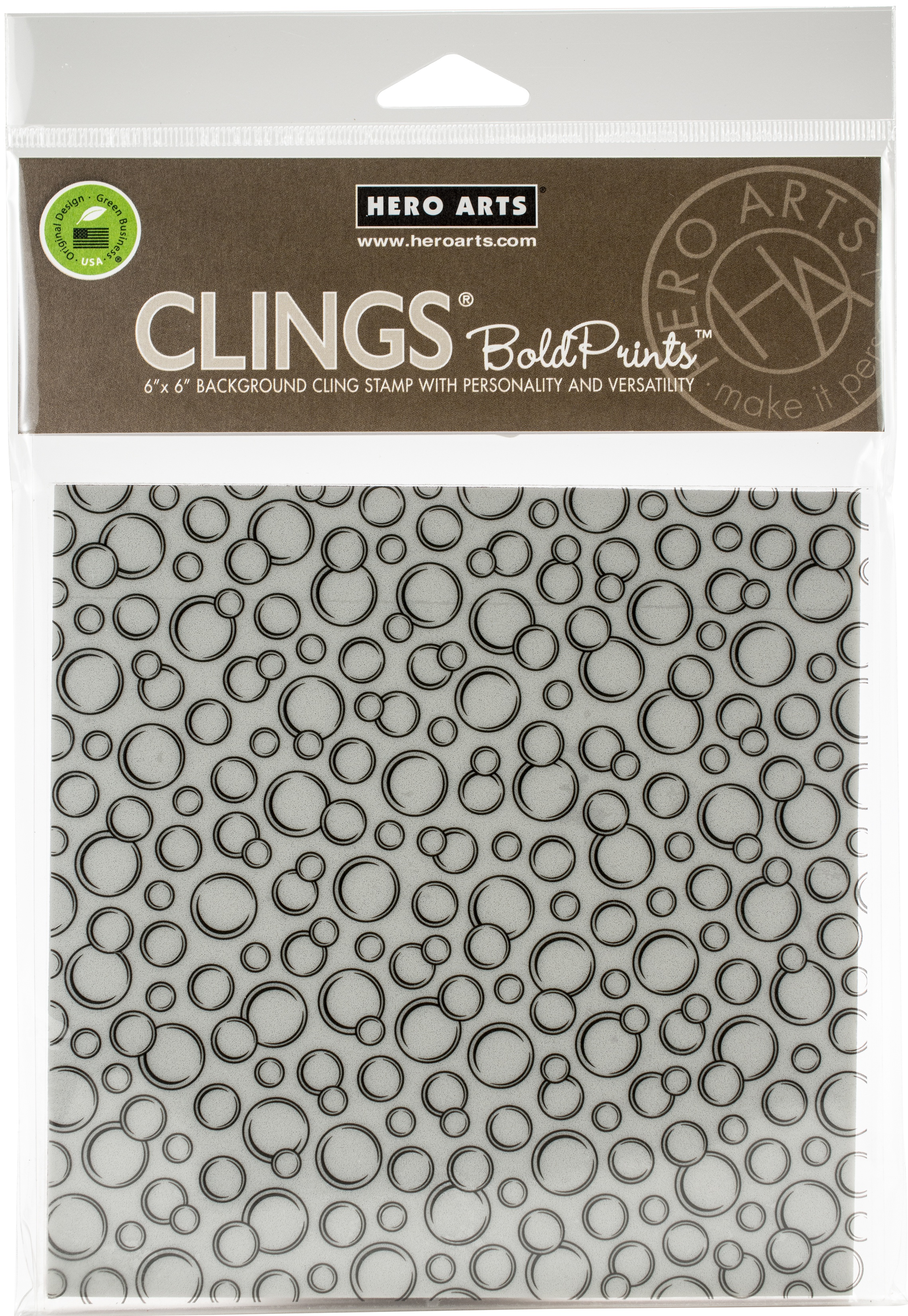 Hero Arts Cling Stamps 6X6-Bubbles Bold Prints