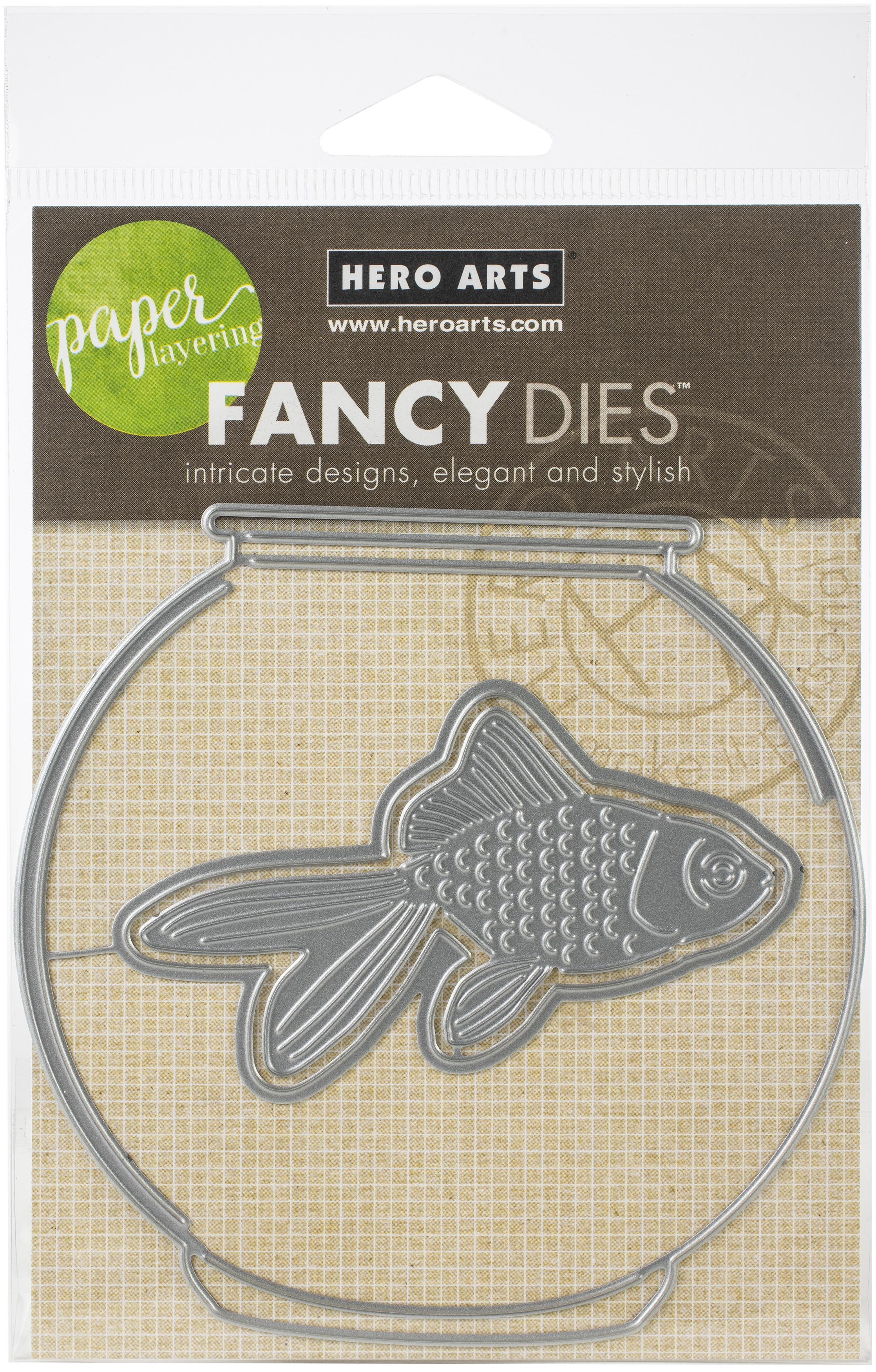 Hero Arts Paper Layering Dies-Goldfish In Bowl