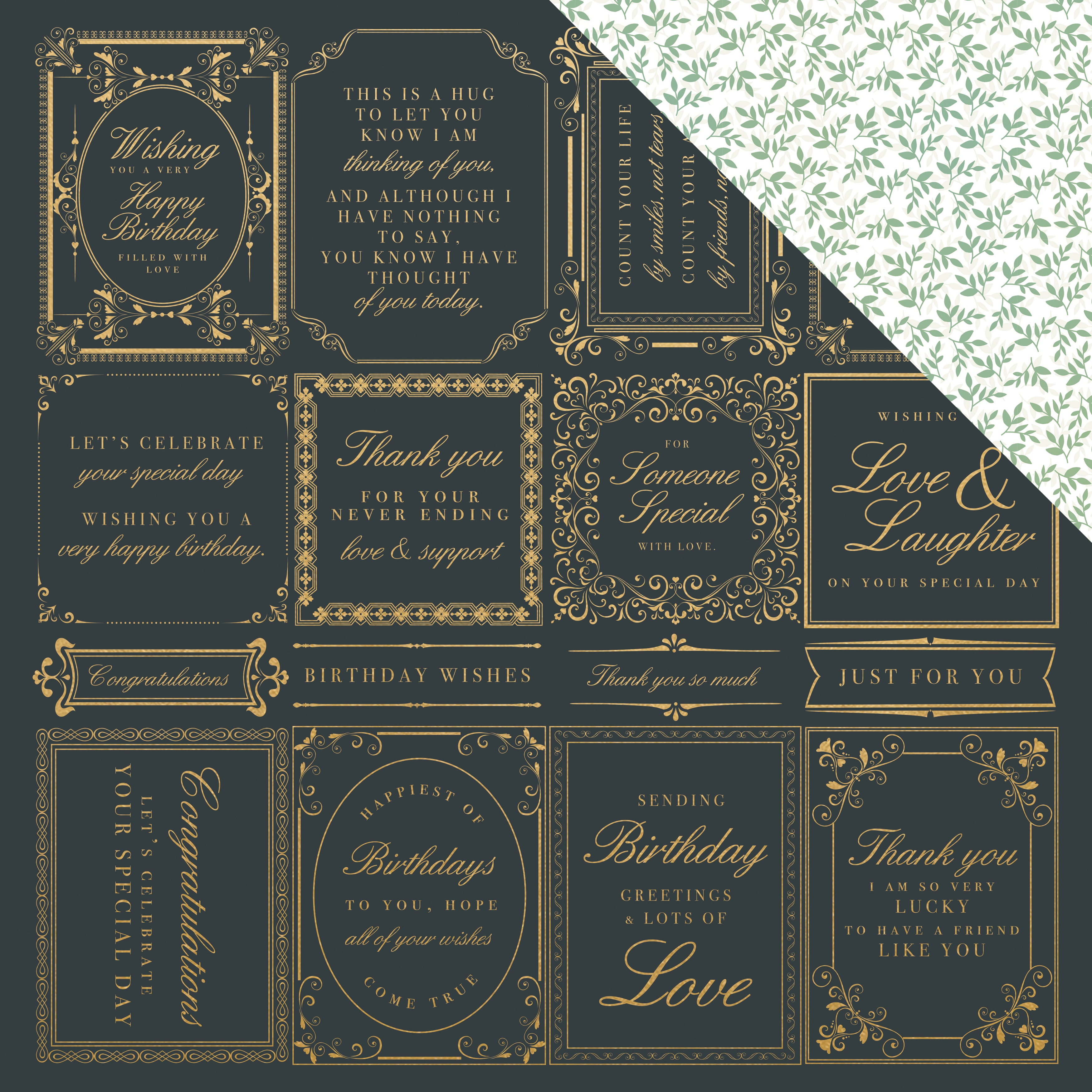 With Love Foiled Double-Sided Cardstock 12X12-Just Because