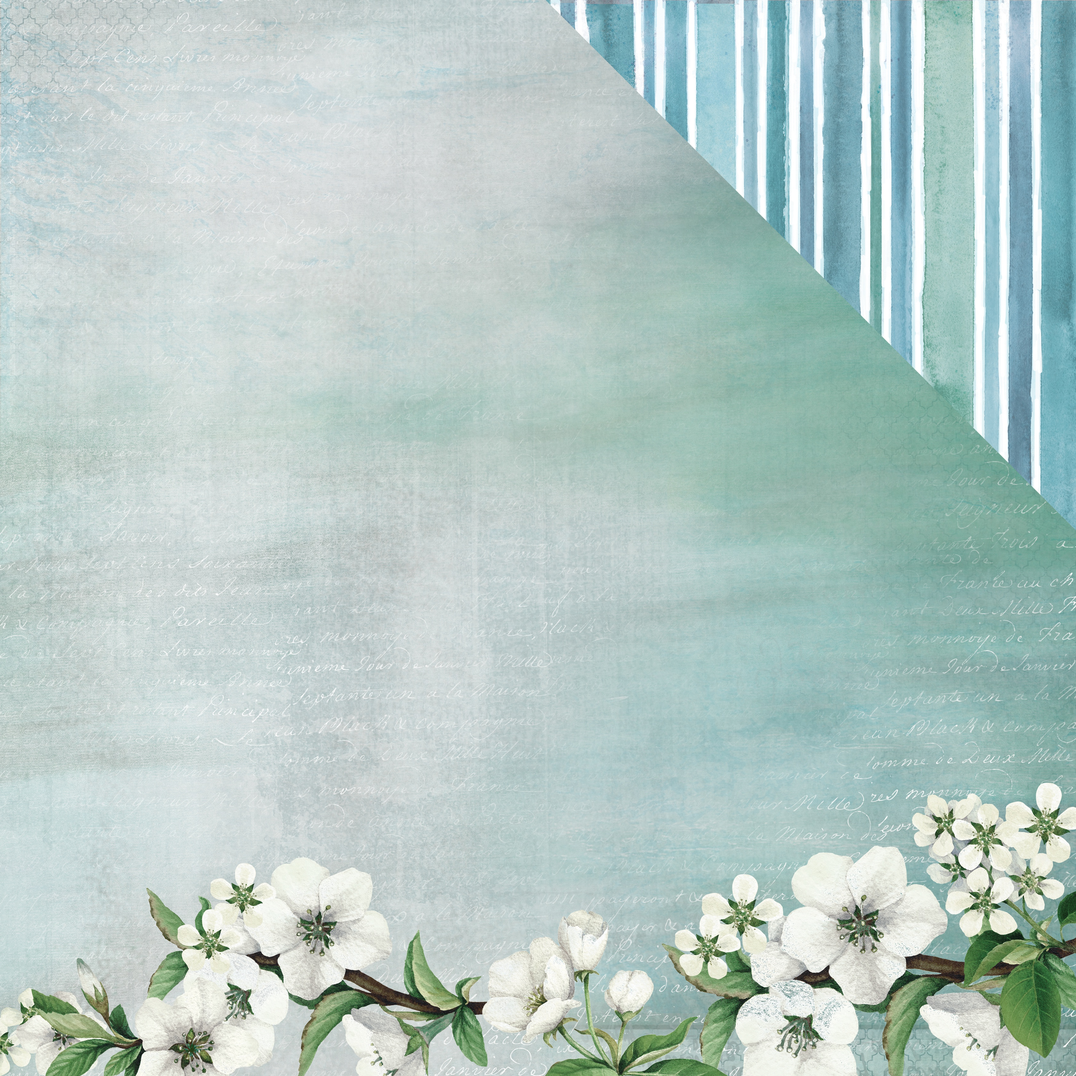 Morning Dew Double-Sided Cardstock 12X12-Tranquil