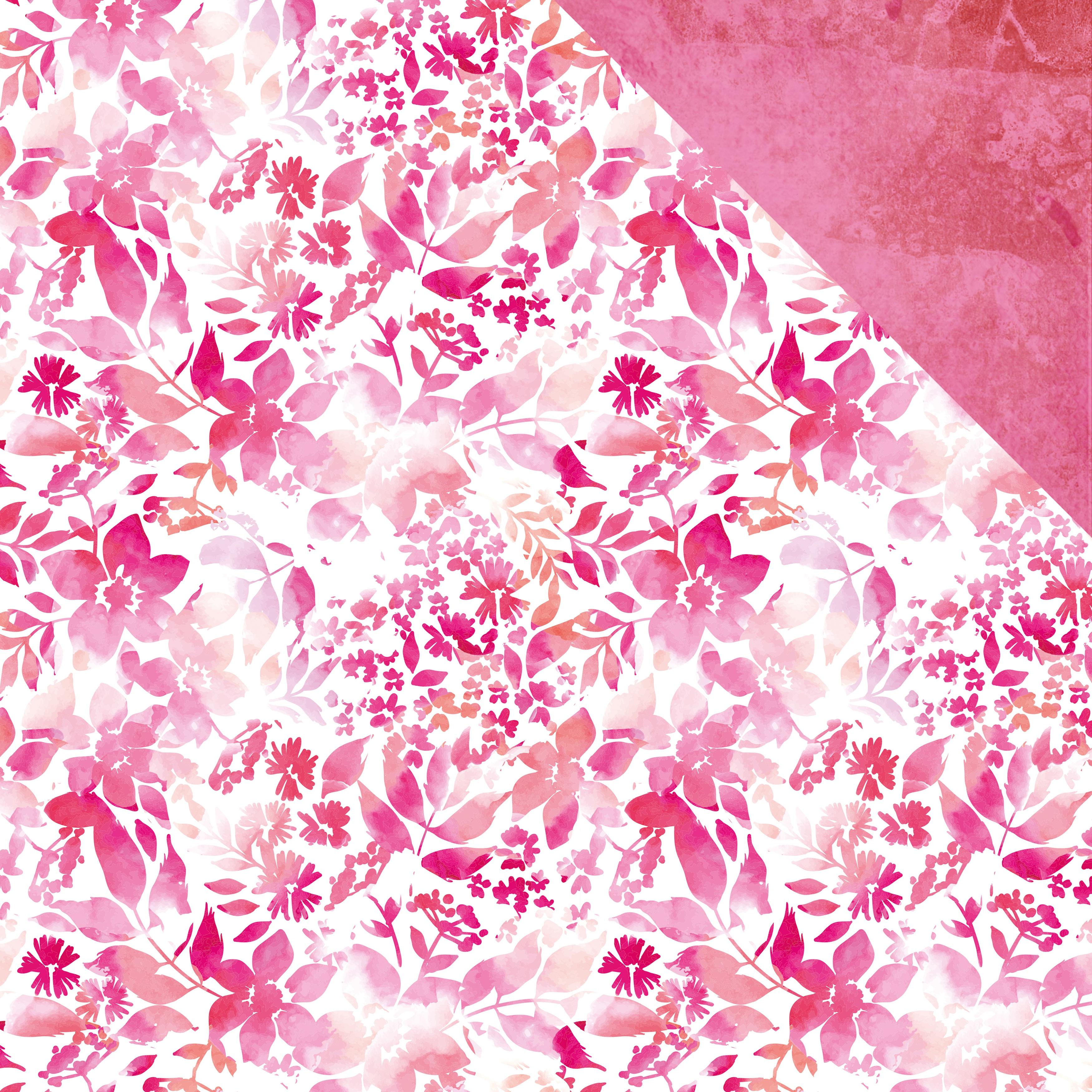 Magenta Double-Sided Cardstock 12X12-Flamingo