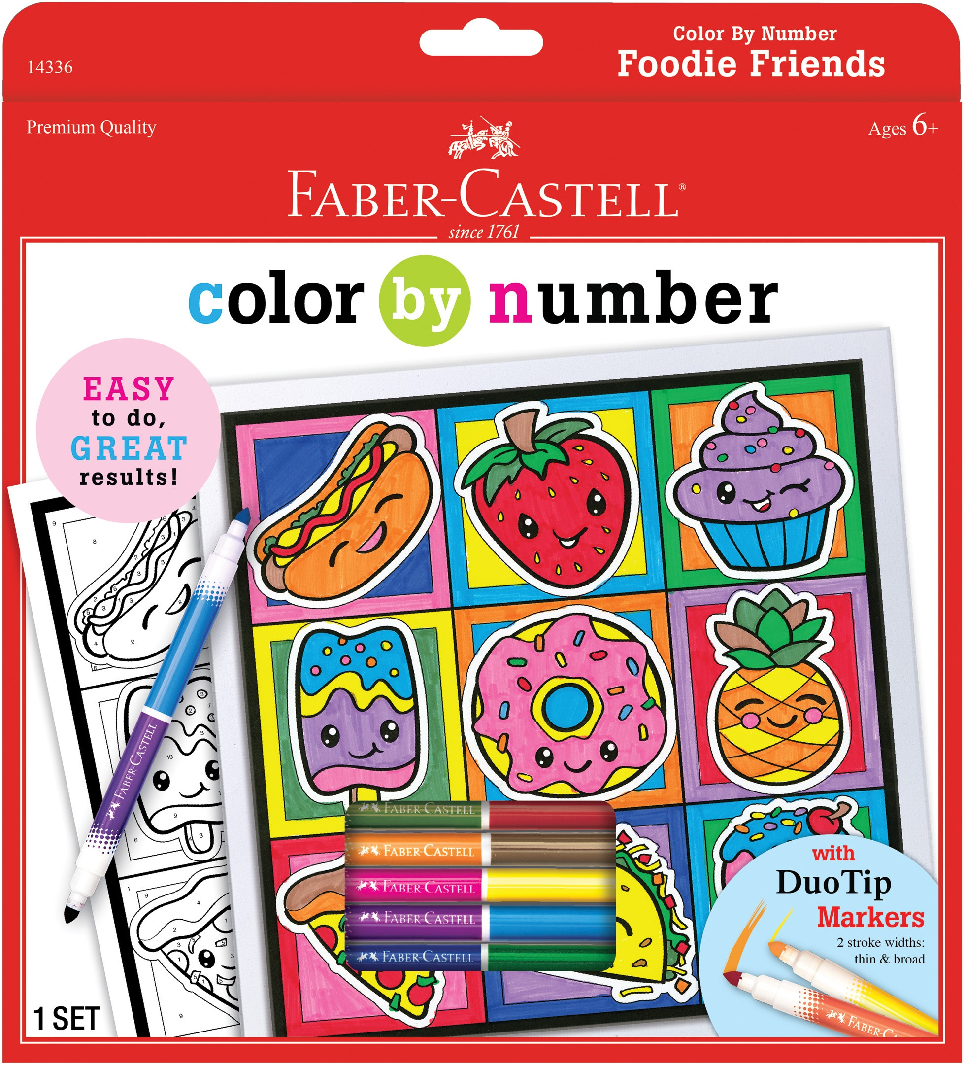 Color By Number Kit 9X9-Foodie Friends