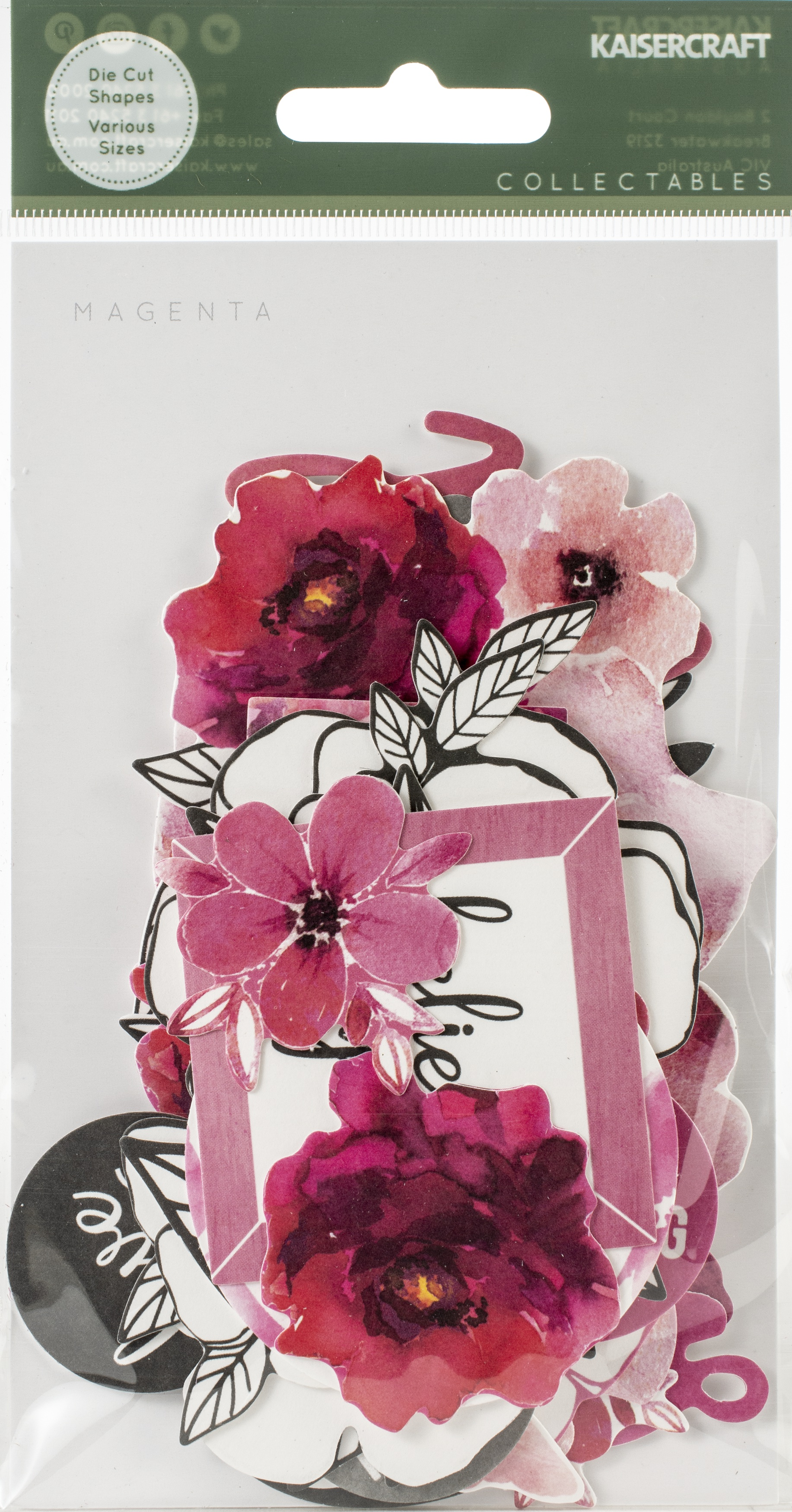 Kaisercraft Collectables Cardstock Die-Cuts-Magenta