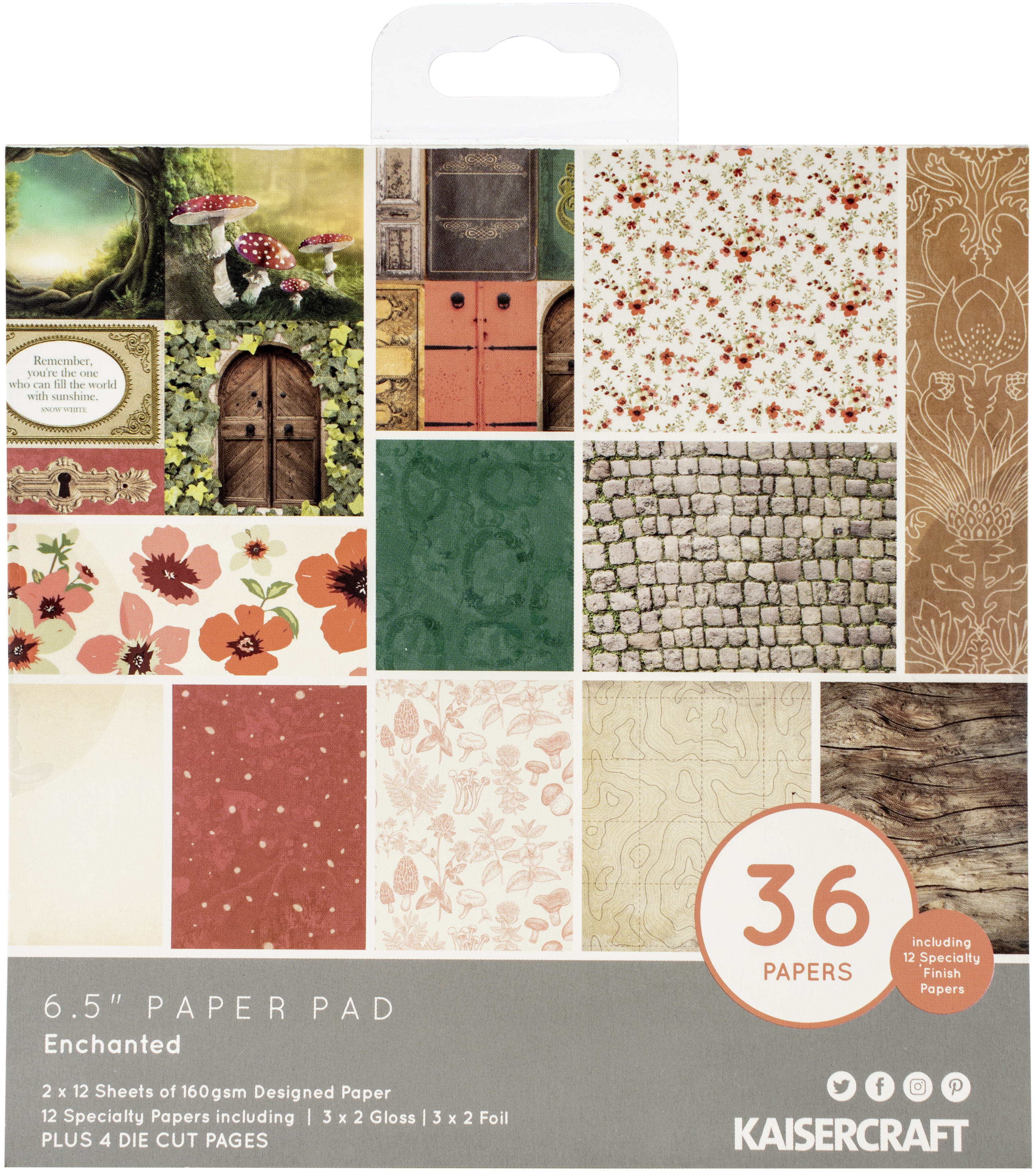 Kaisercraft Paper Pad 6.5X6.5 40/Pkg-Enchanted