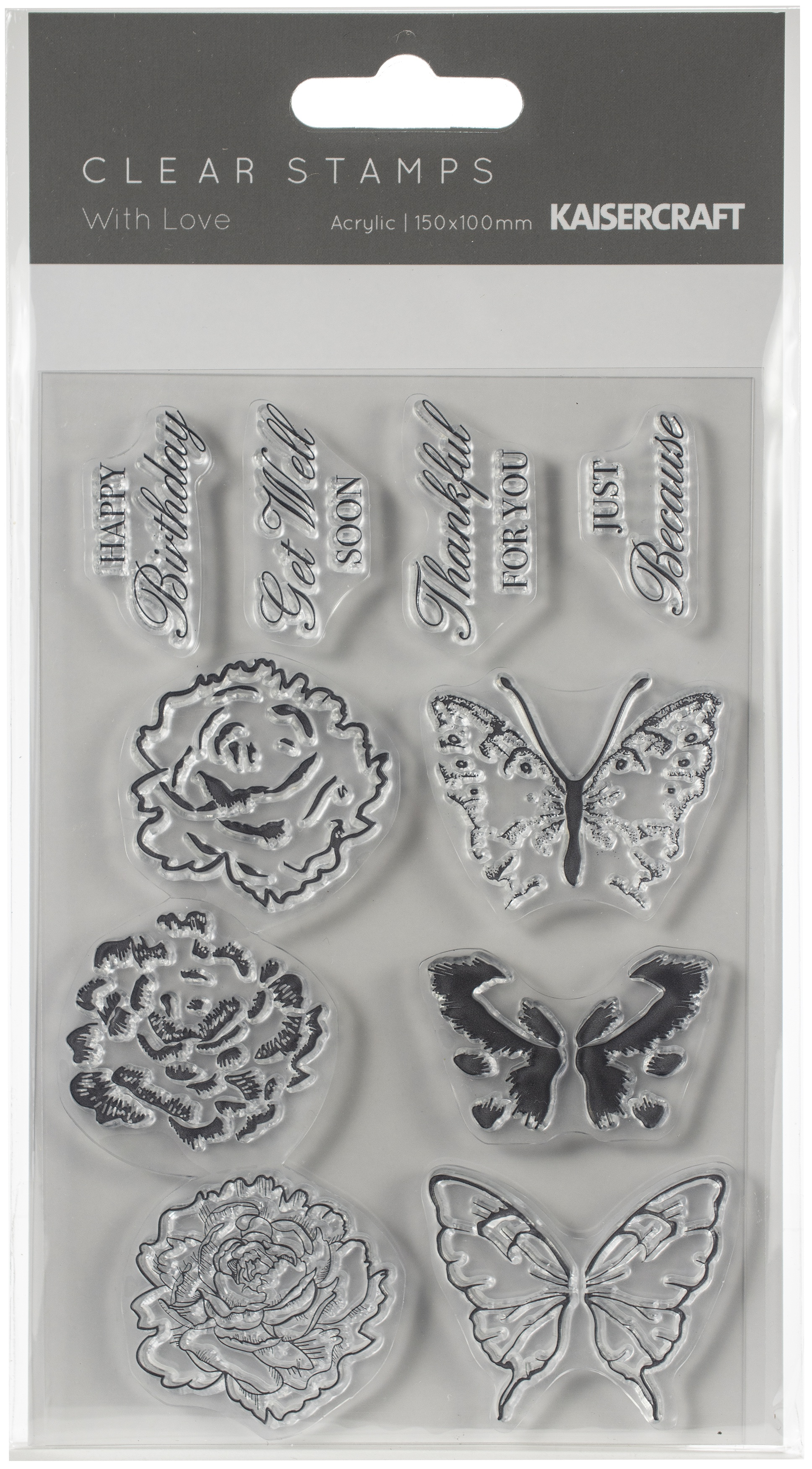 With Love Clear Stamps 6X4-