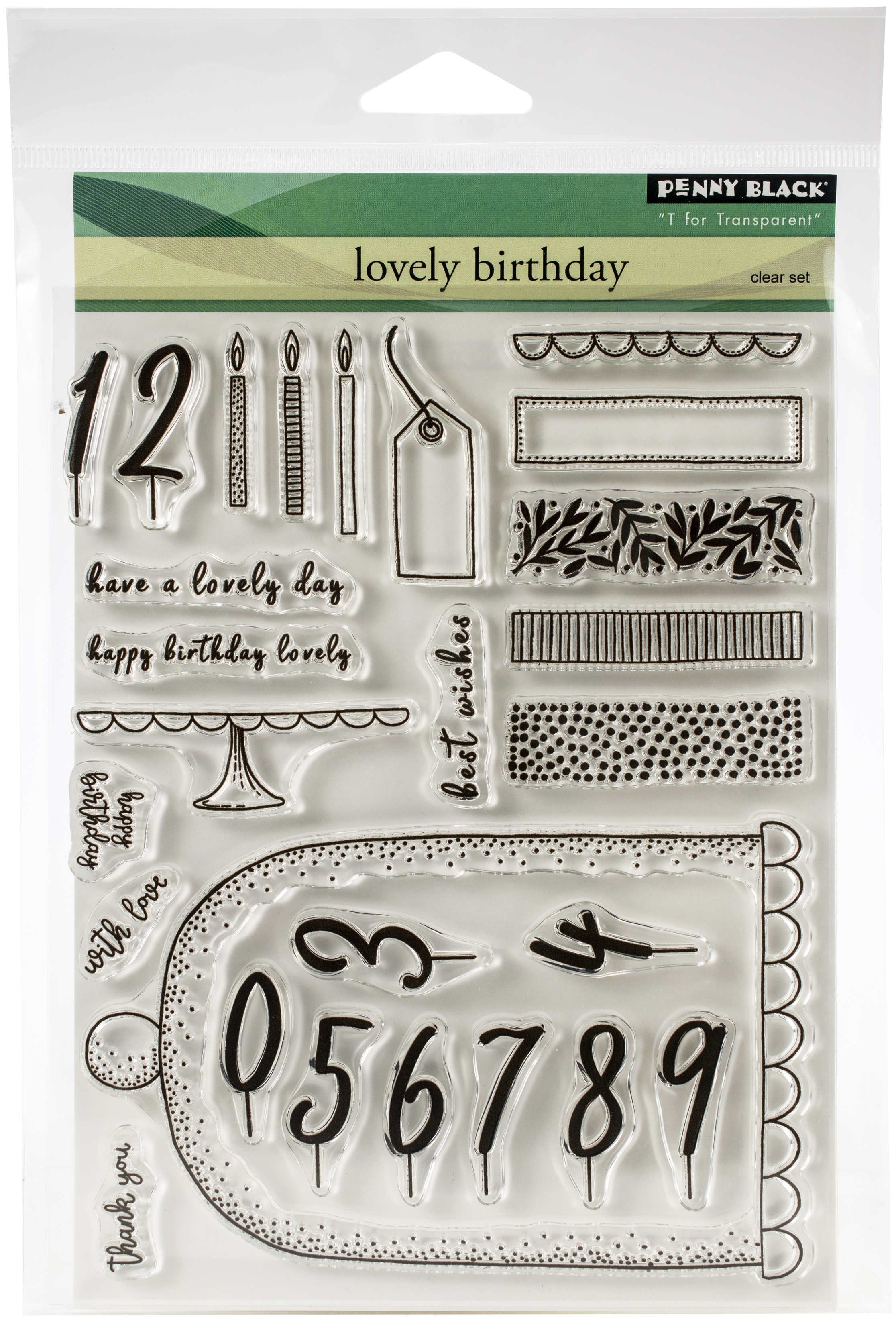 Penny Black Clear Stamps-Lovely Birthday 5X6.5
