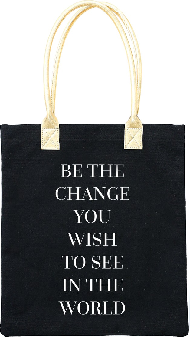 Teresa Collins Totebag 16X13-Be The Change