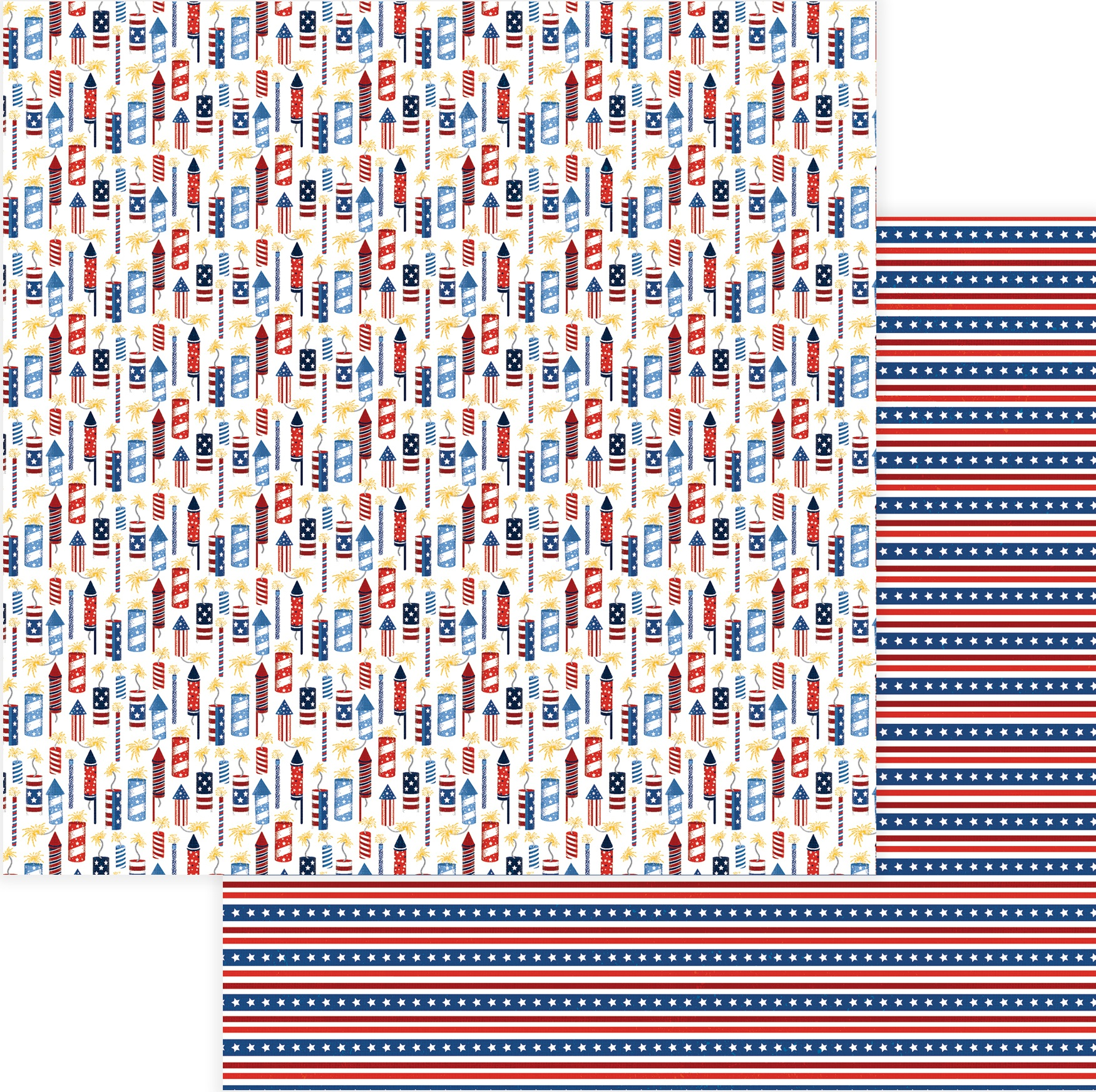 Land Of The Free Double-Sided Cardstock 12X12-Rockets