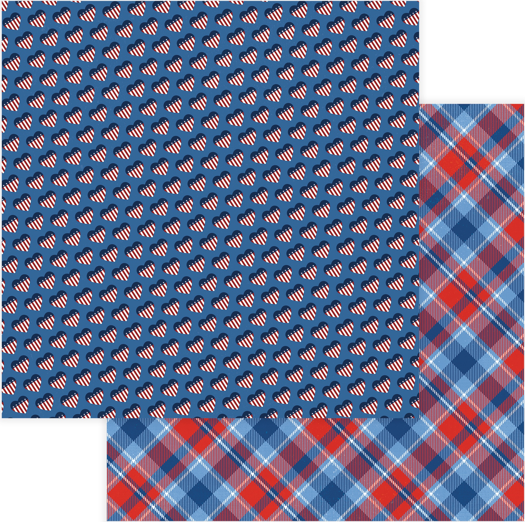 Land Of The Free Double-Sided Cardstock 12X12-Stars & Stripes