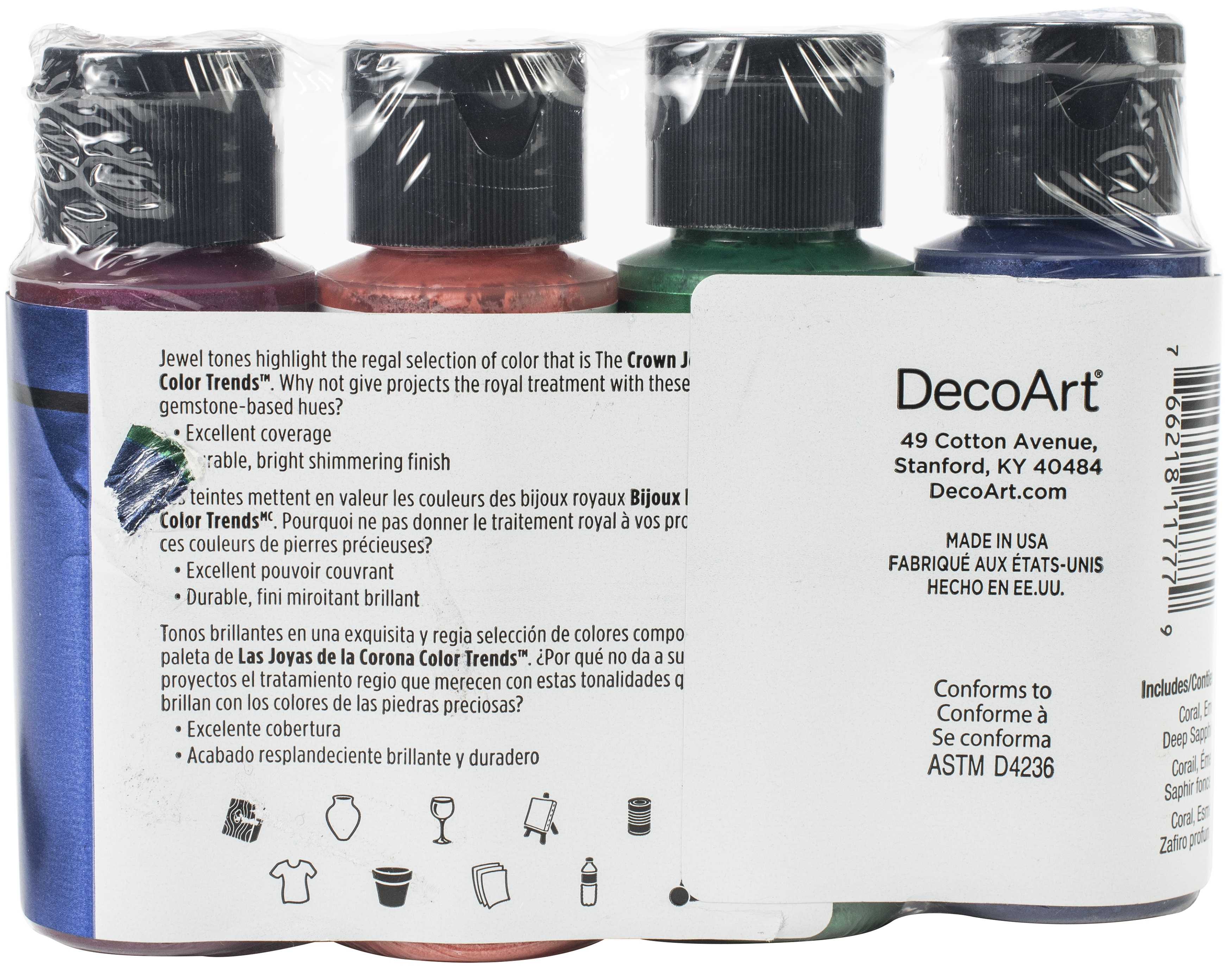 DecoArt Extreme Sheen Color Trends Value Pack 4/Pkg-The Crown Jewels