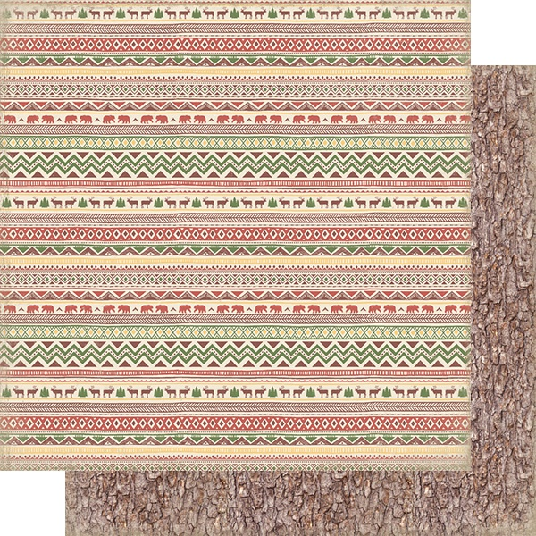 Rustic Double-Sided Cardstock 12X12-#2 Horizontal Stripe