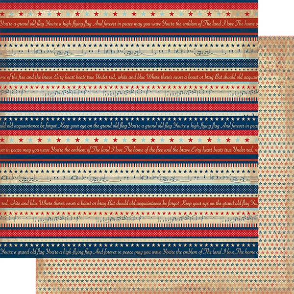 AUTHENTIQUE LIBERTY-STRIPE 12X12